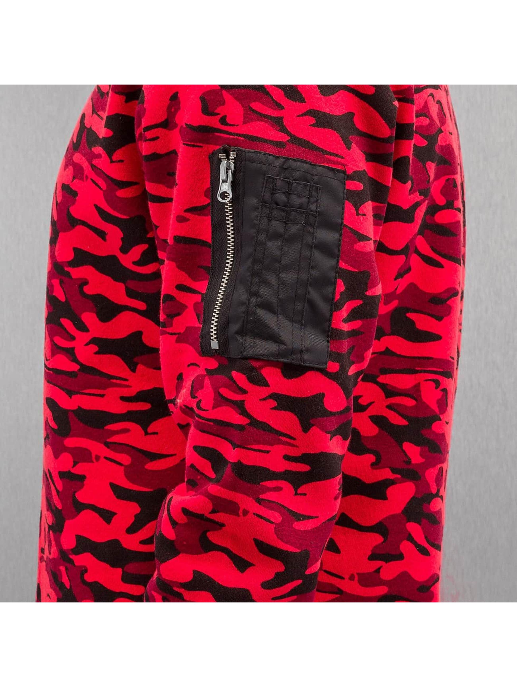 Urban Classics Swetry Sweat Camo Bomber czerwony