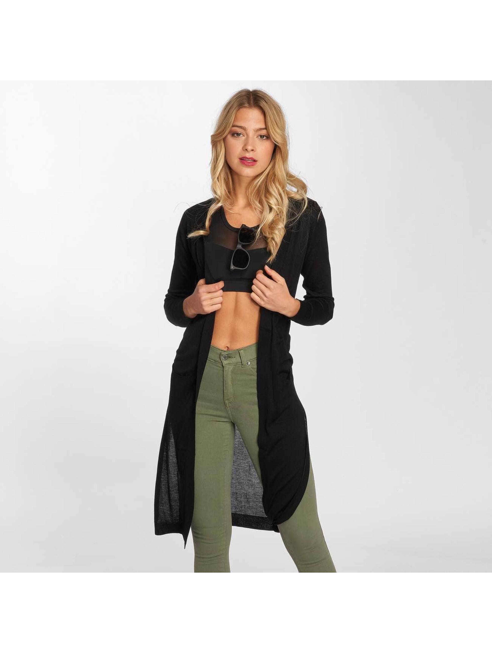Urban Classics Swetry rozpinane Ladies Fine Knit czarny