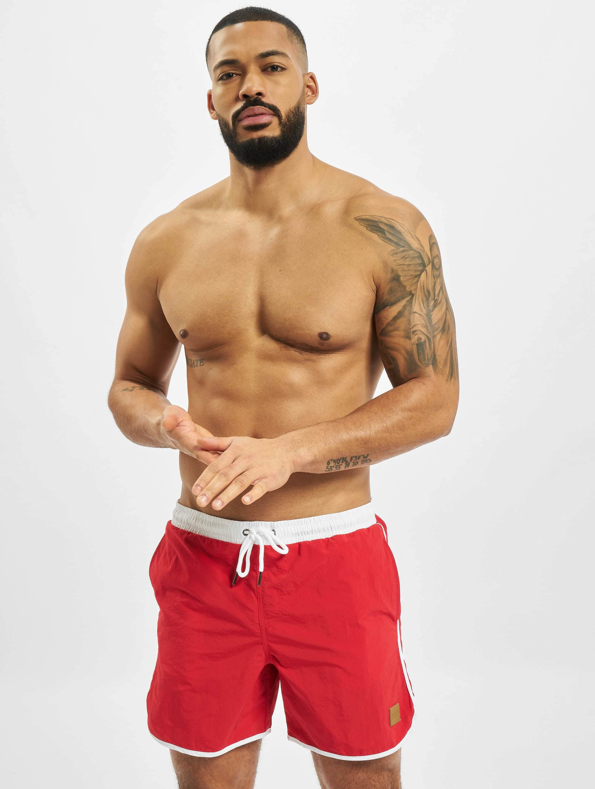 Urban Classics Swim shorts Retro red