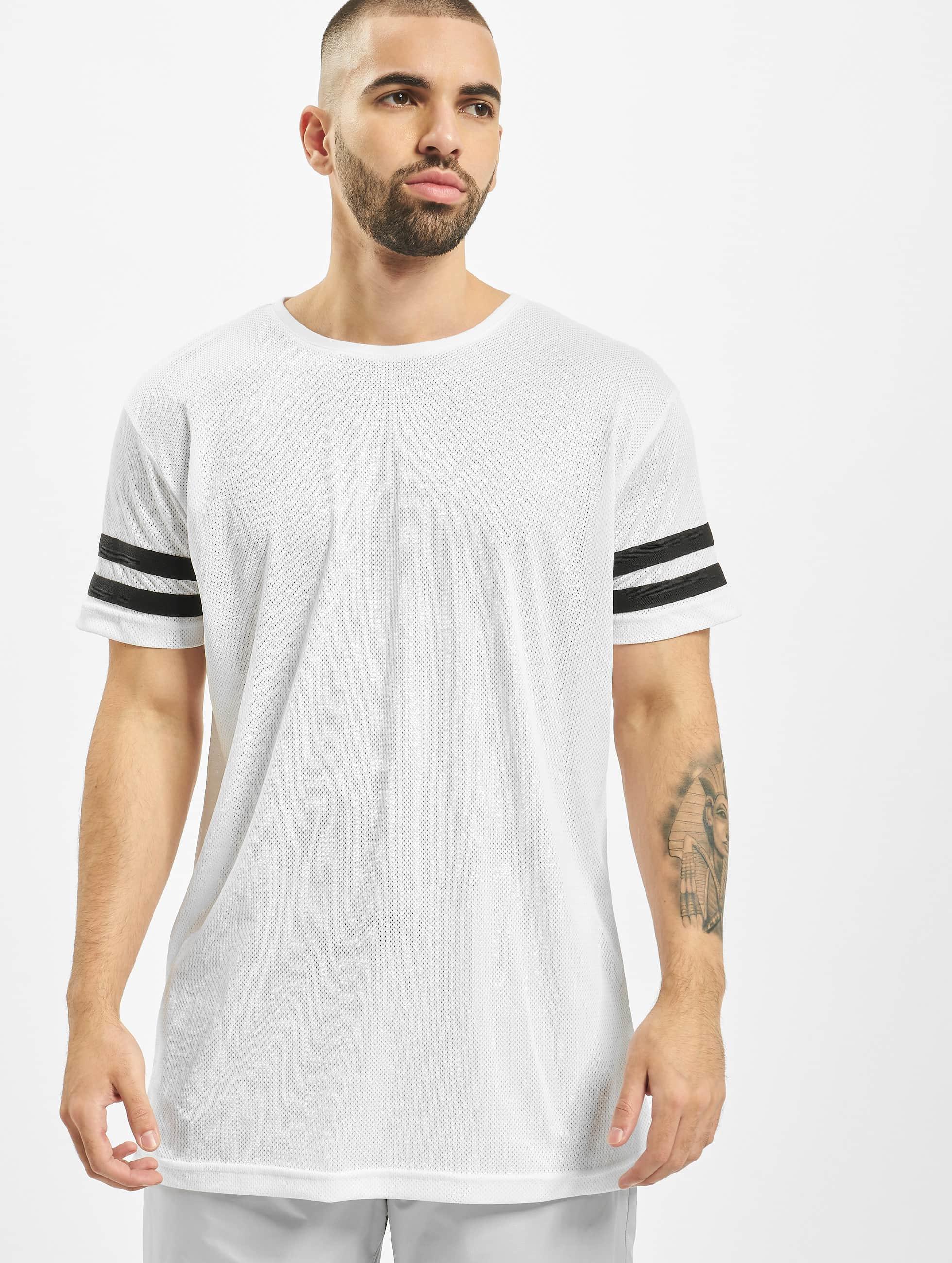 Urban Classics T-paidat Stripe Mesh valkoinen
