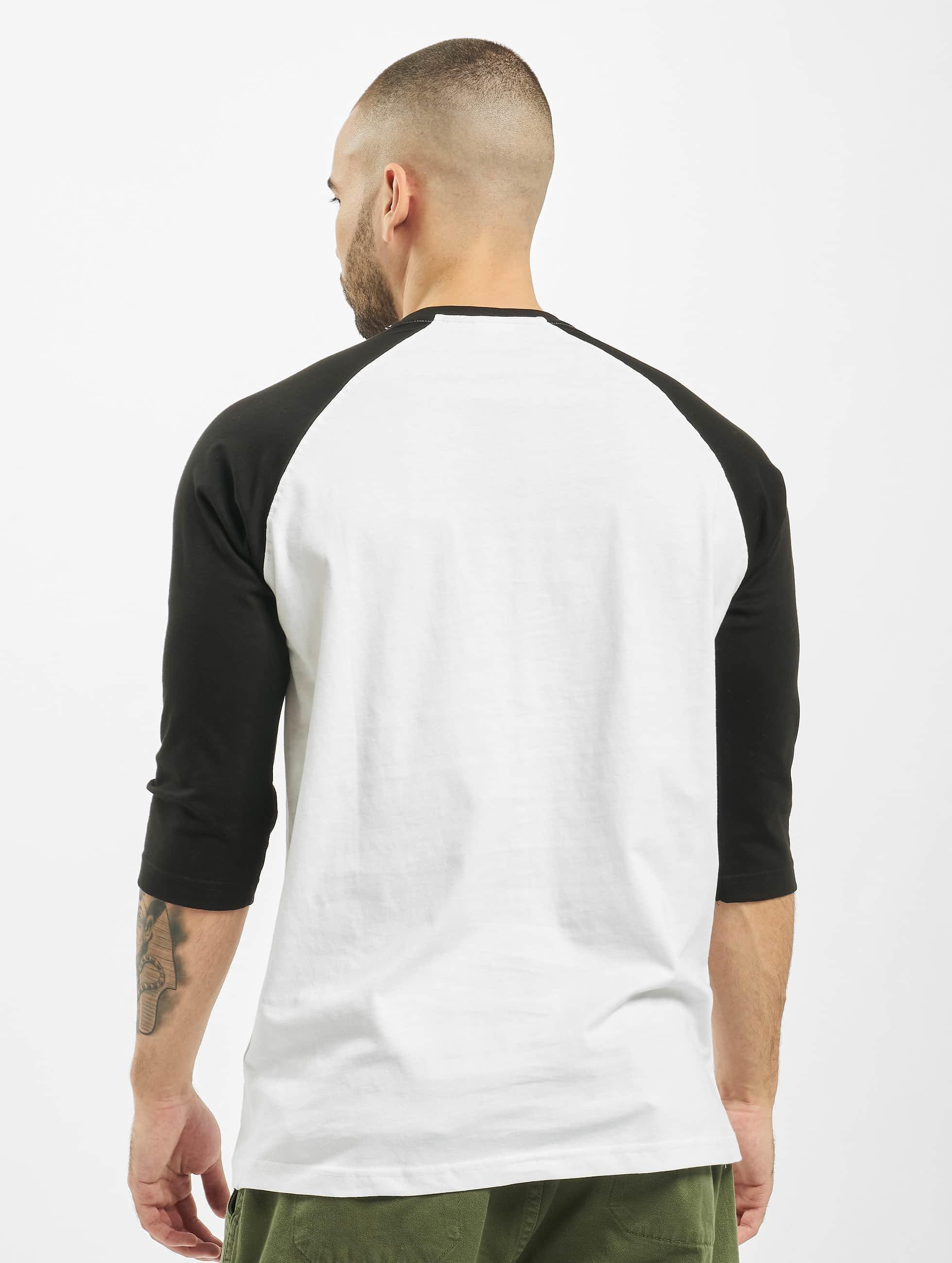 Urban Classics T-paidat Contrast 3/4 Sleeve Raglan valkoinen