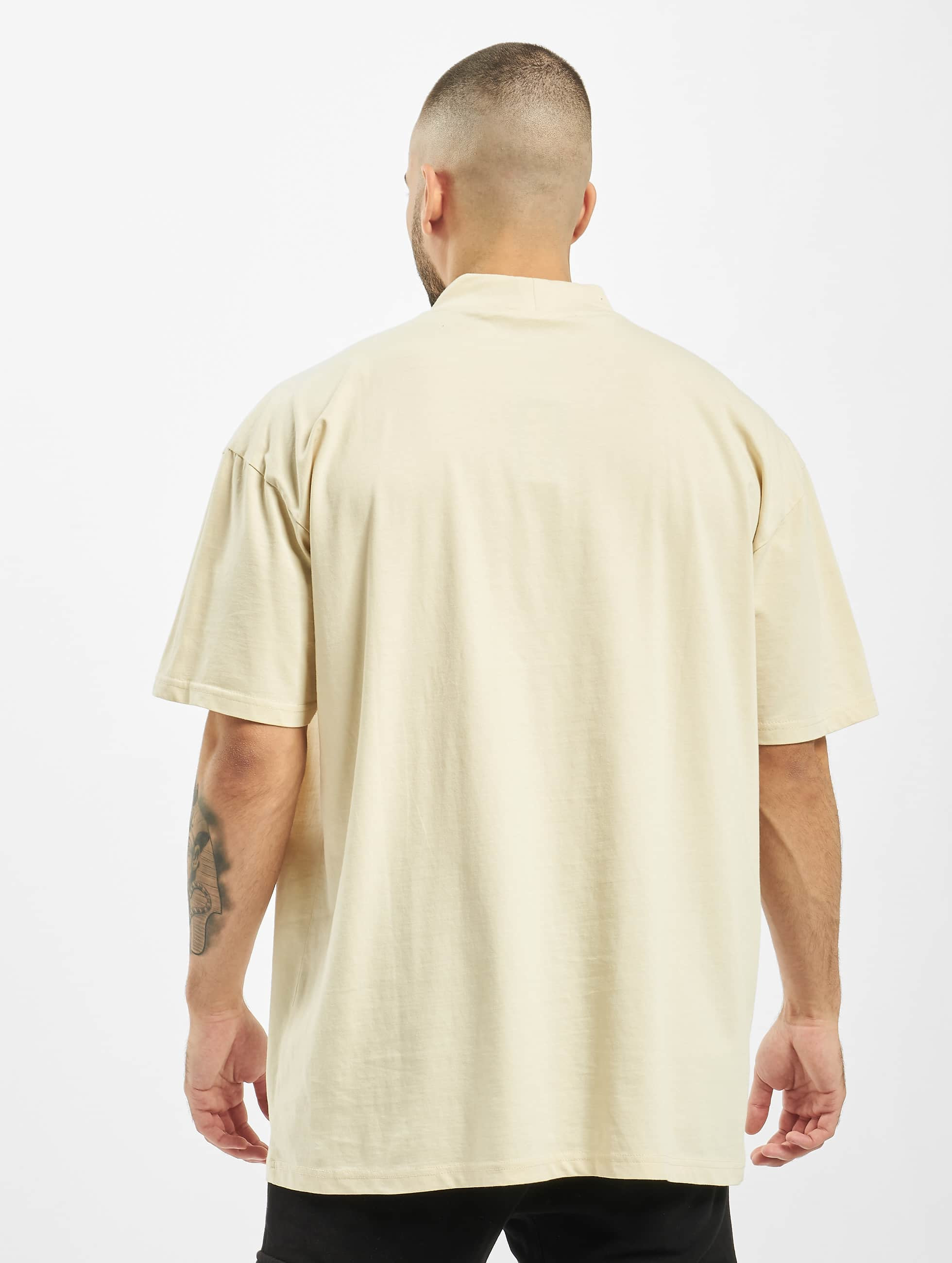 Urban Classics T-Shirt Oversized Turtleneck beige