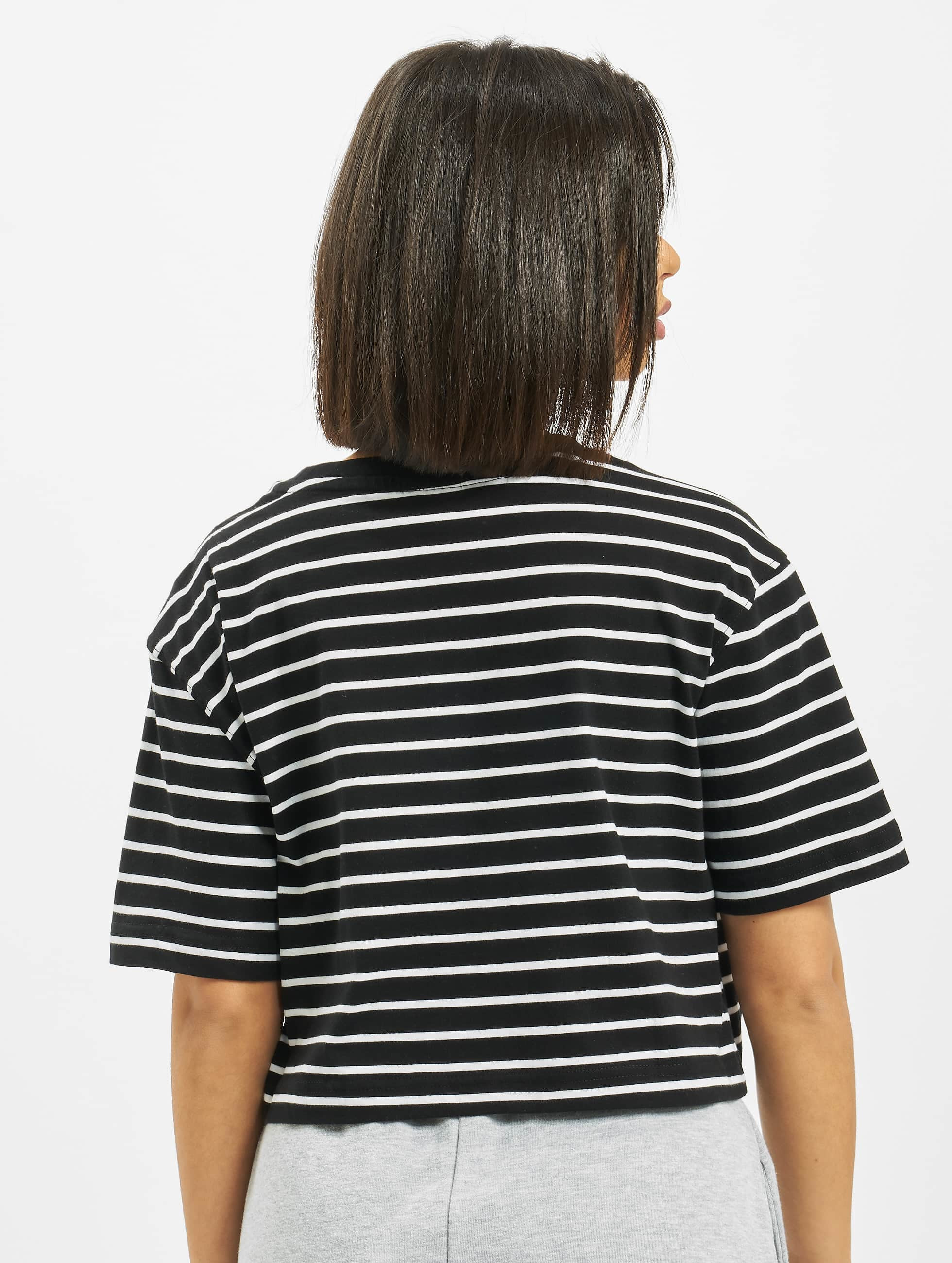 Urban Classics T-Shirt Ladies Striped Oversized black