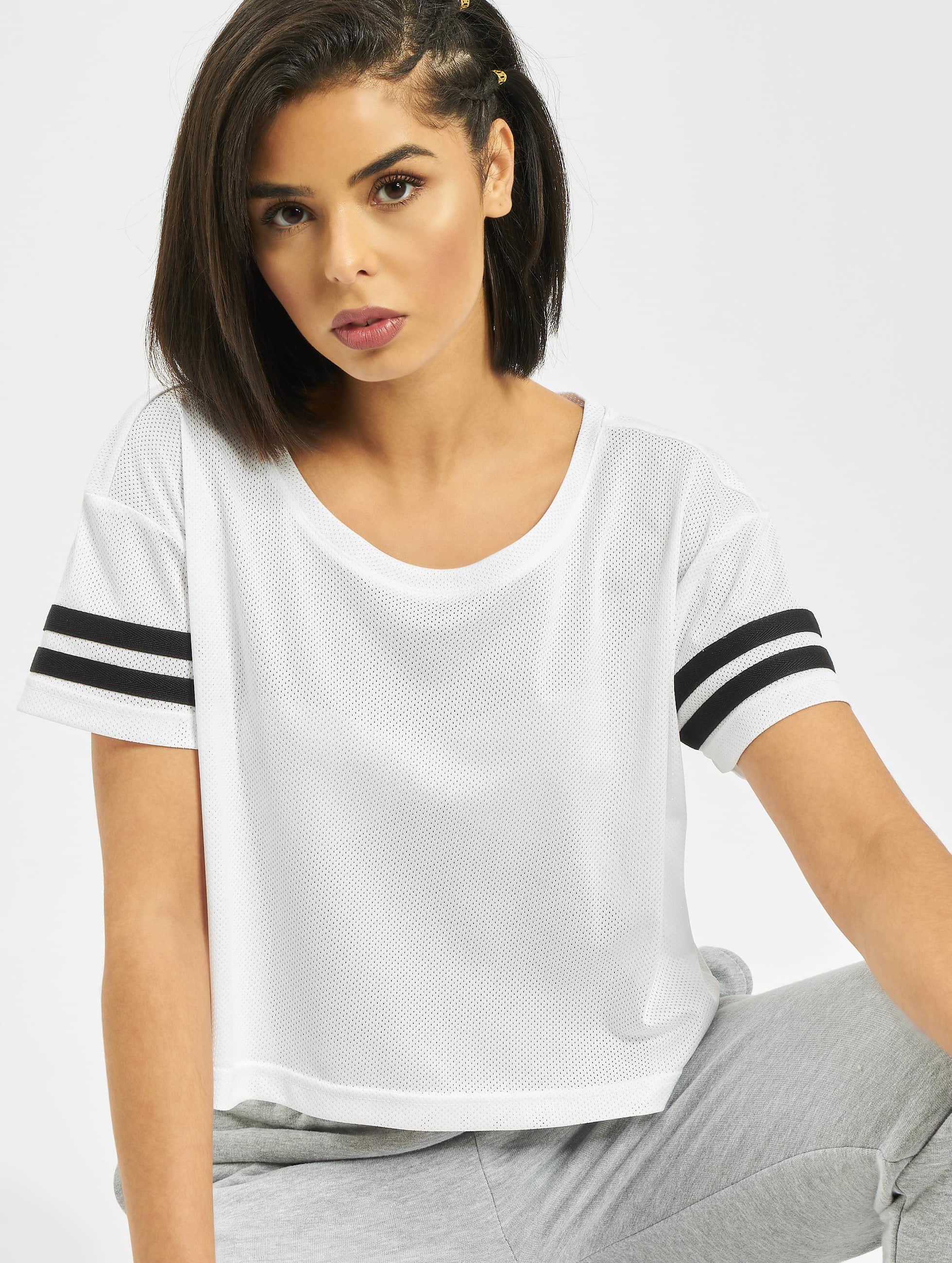Urban Classics Haut / T-Shirt Mesh Short en blanc