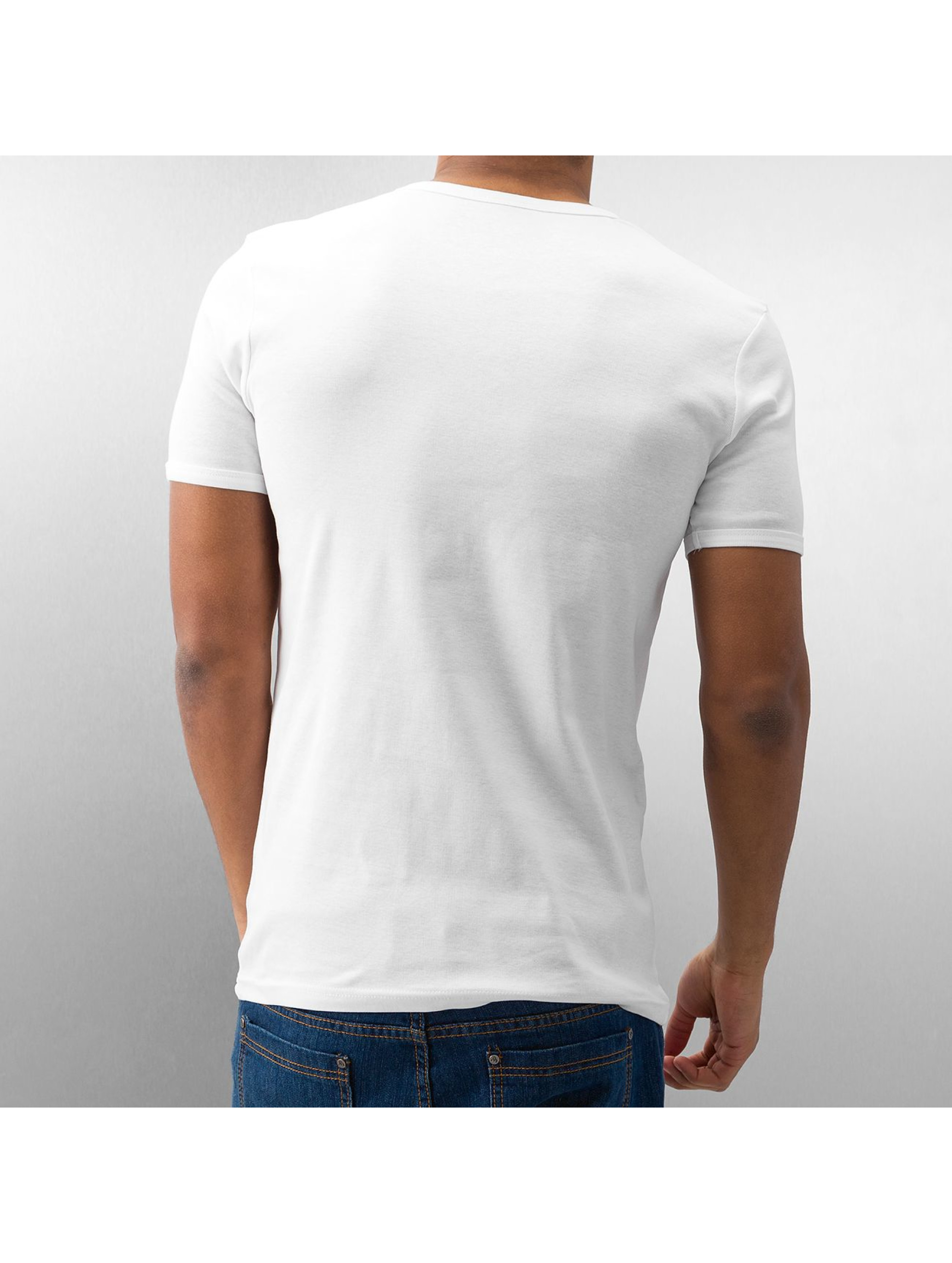 Urban Classics T-Shirt Slim 1by1 V-Neck blanc