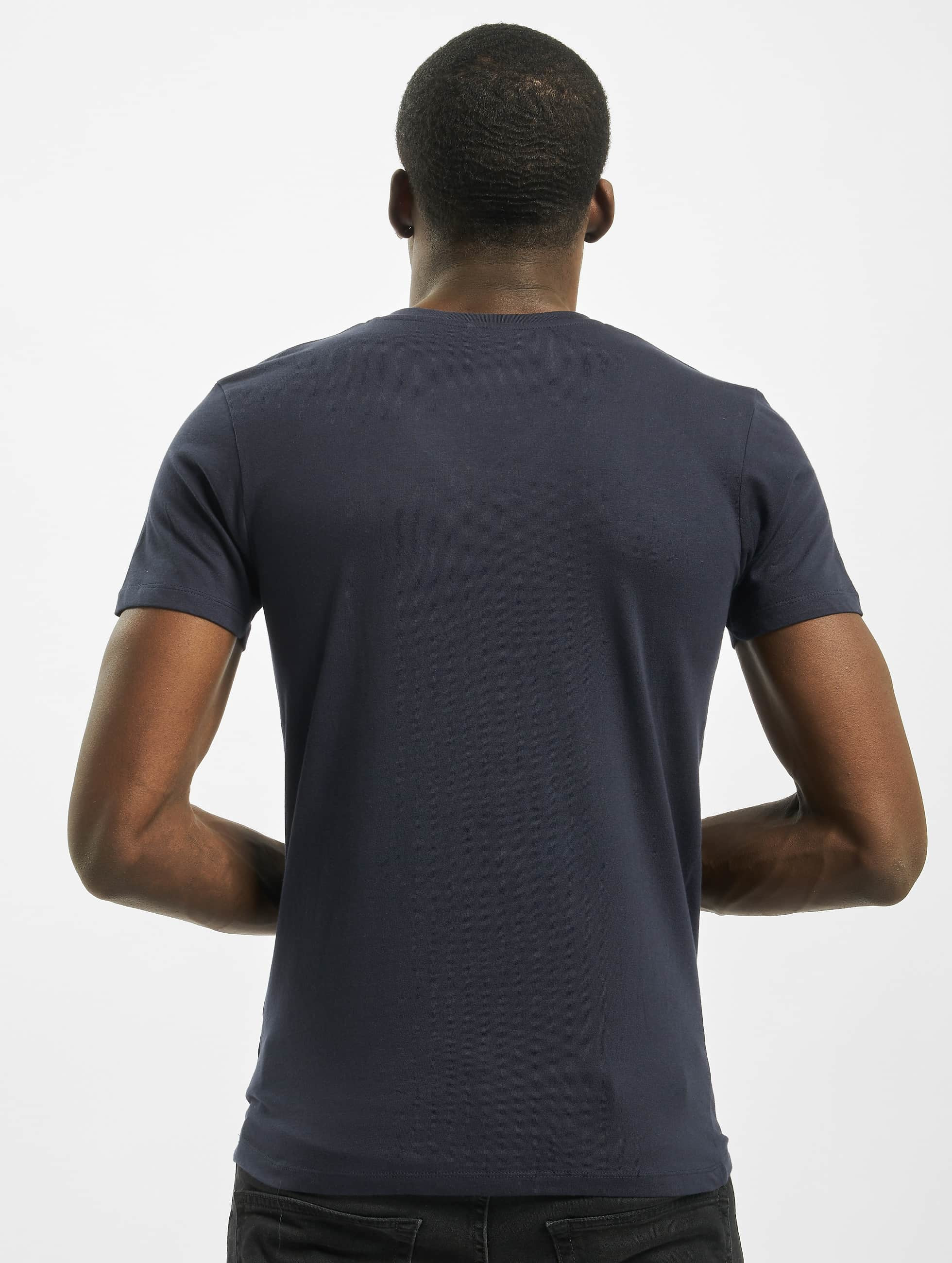 Urban Classics T-Shirt Pocket blau