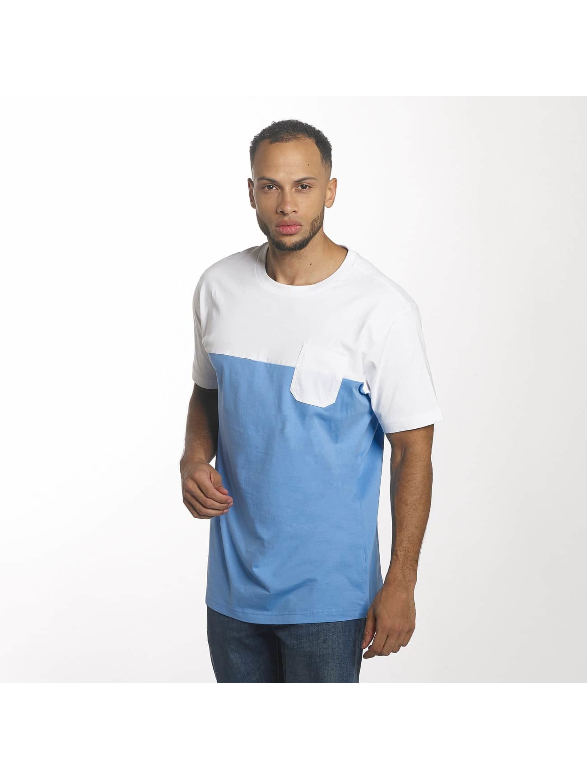 Urban Classics T-Shirt Color Block Summer Pocket blau