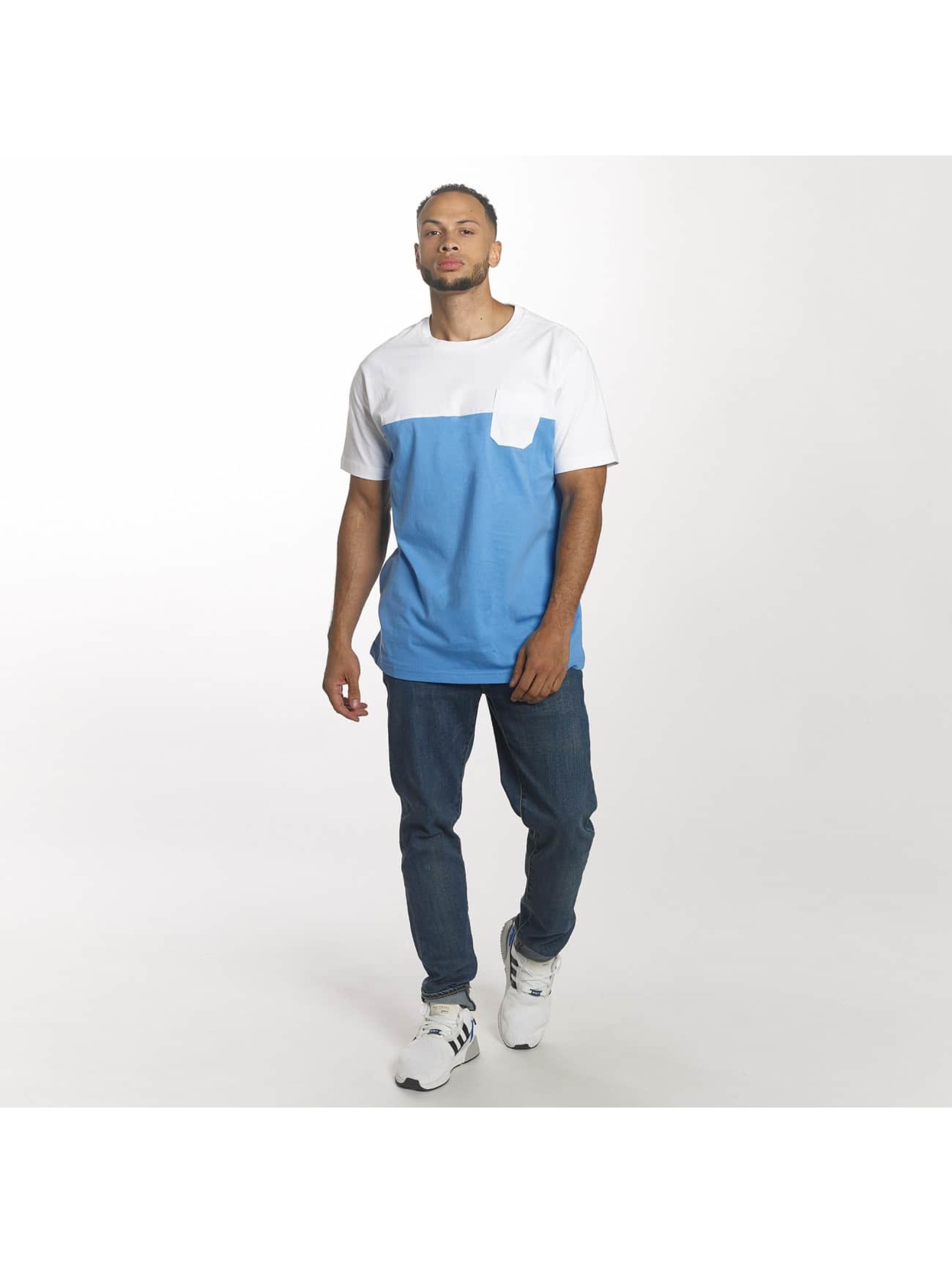 Urban Classics T-shirt Color Block Summer Pocket blu