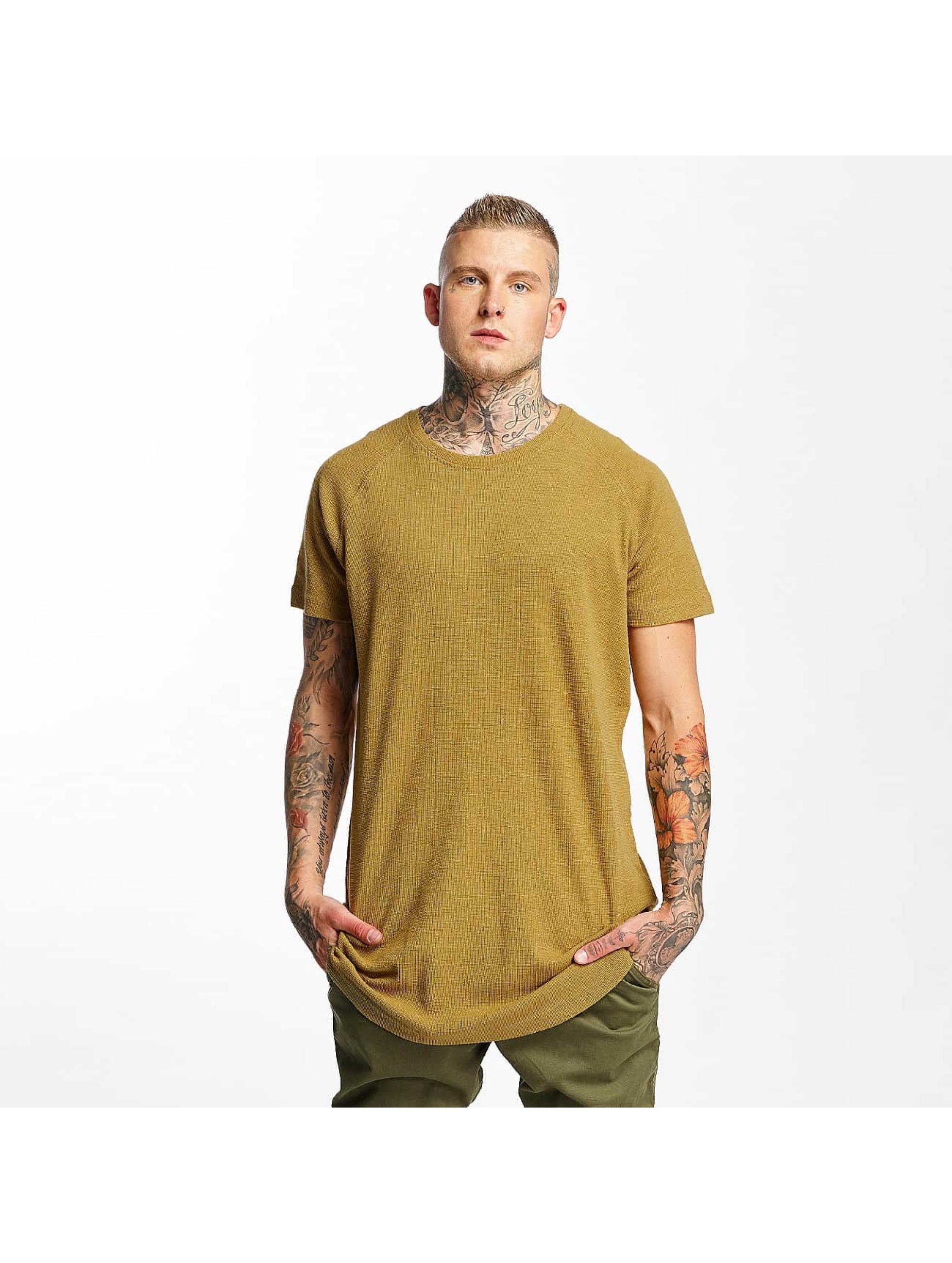 Urban Classics T-Shirt Thermal Slub Raglan braun