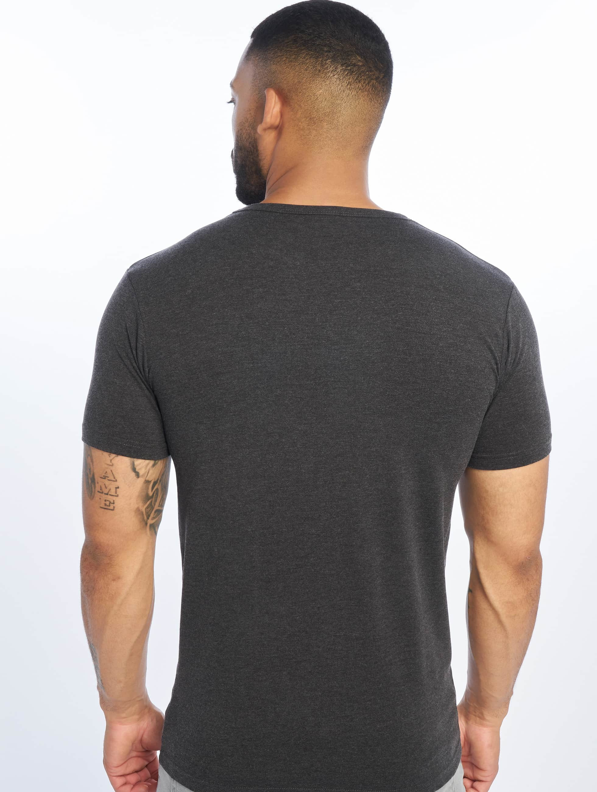 urban classics herren t shirt fitted stretch in grau 133179. Black Bedroom Furniture Sets. Home Design Ideas