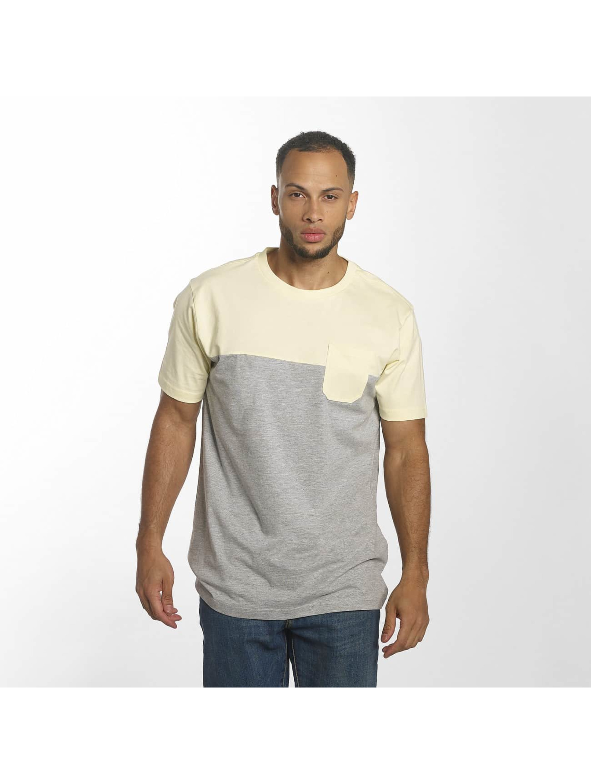 Urban Classics T-Shirt Color Block Summer Pocket grey