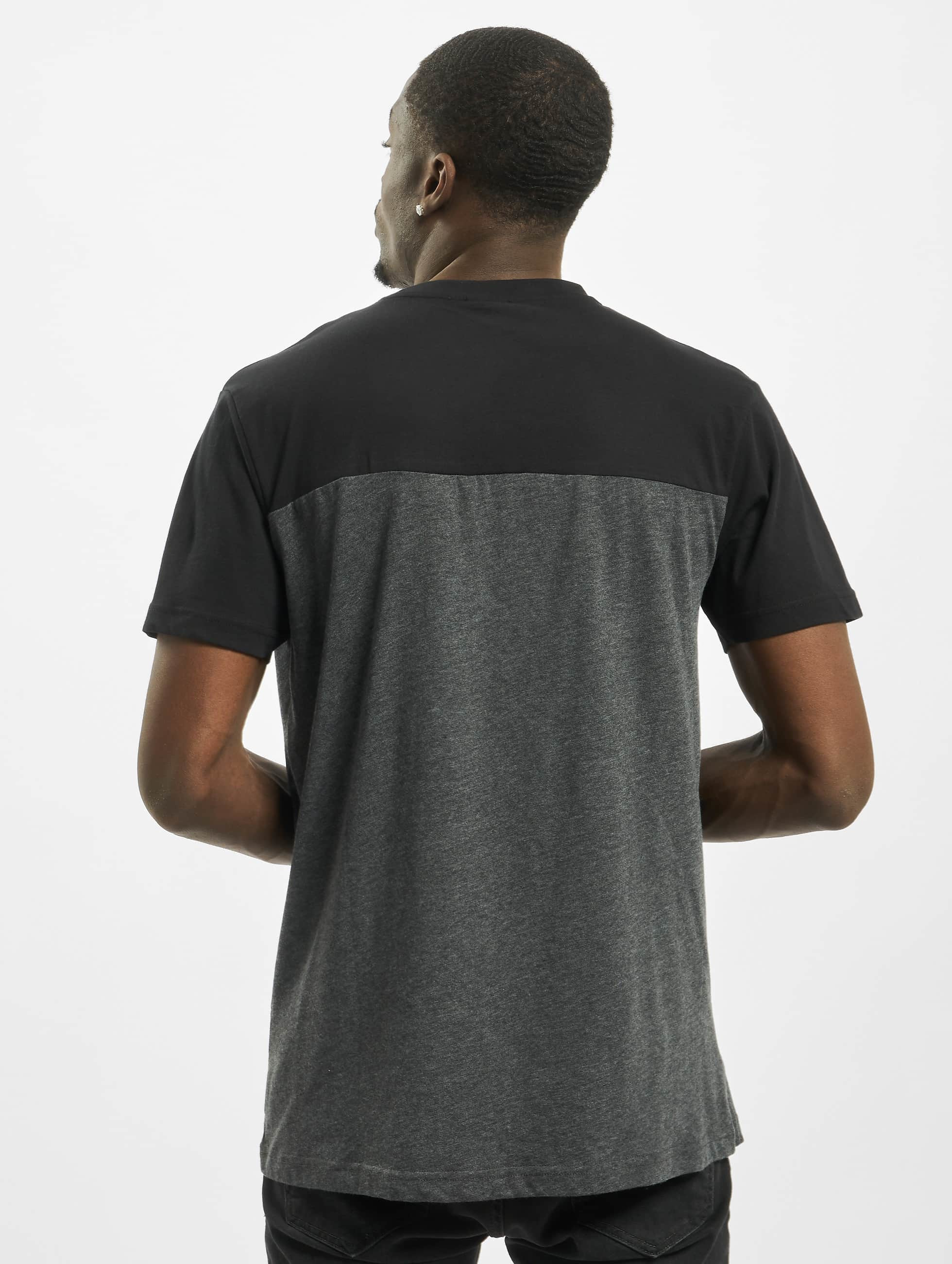 Urban Classics T-Shirt 3-Tone Pocket gris