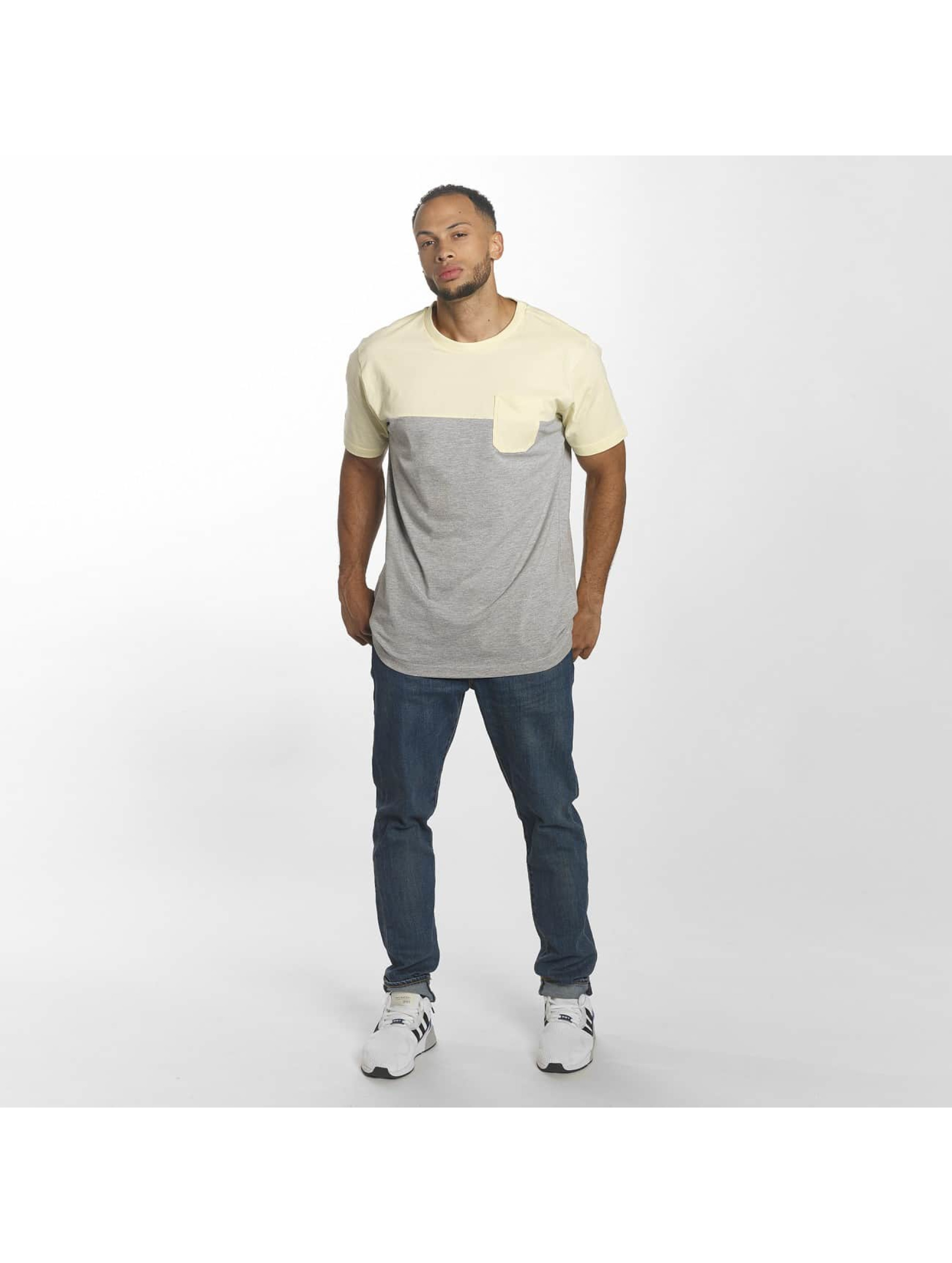 Urban Classics T-Shirt Color Block Summer Pocket gris