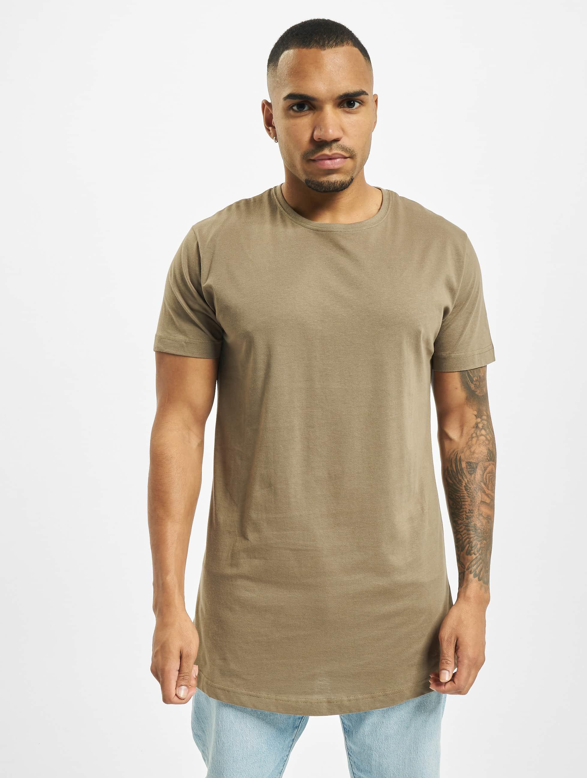 Urban Classics t-shirt Shaped Oversized Long groen