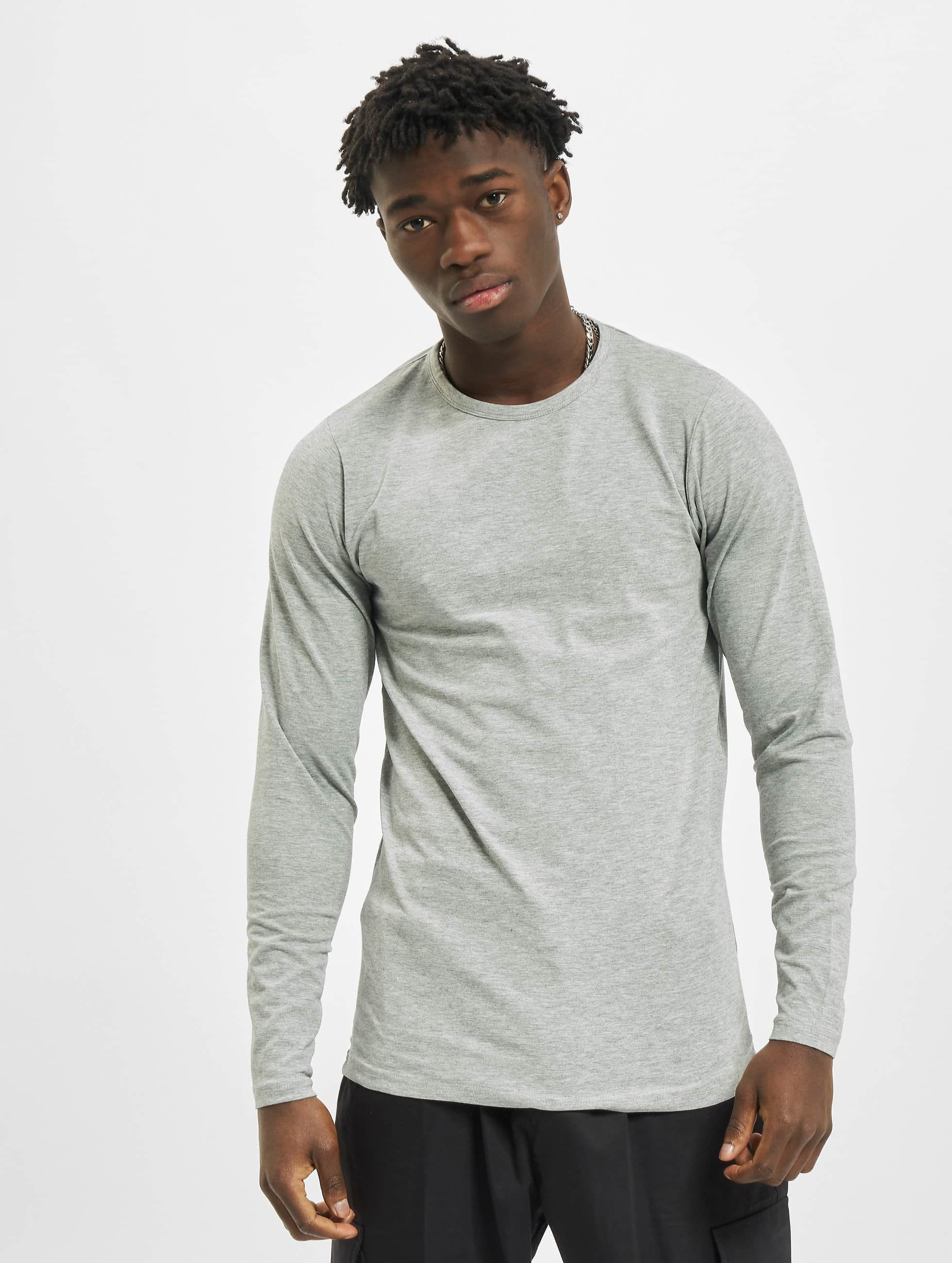 Urban Classics T-Shirt manches longues Fitted Stretch gris