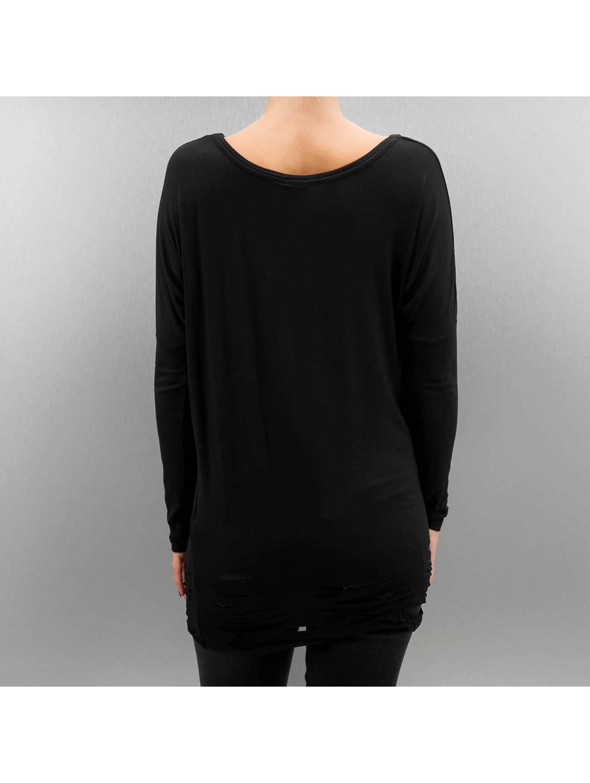 Urban Classics T-Shirt manches longues Ladies Cutted Viscose noir