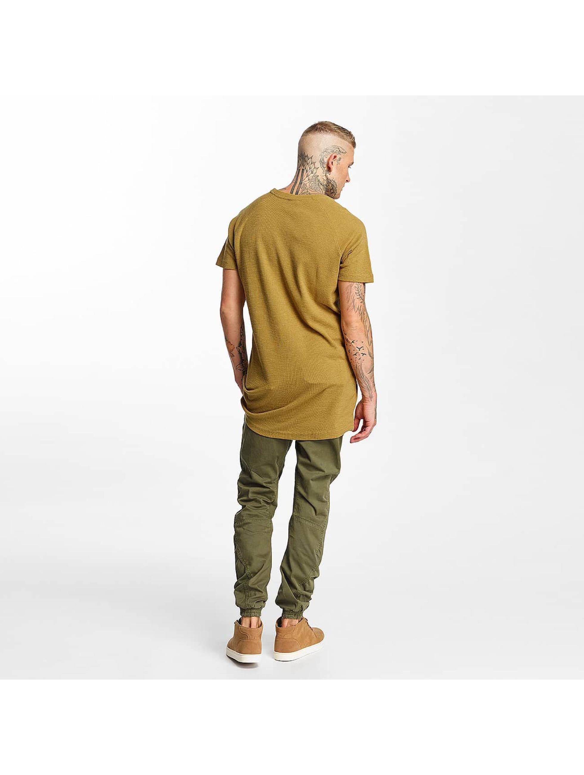 Urban Classics T-shirt Thermal Slub Raglan marrone