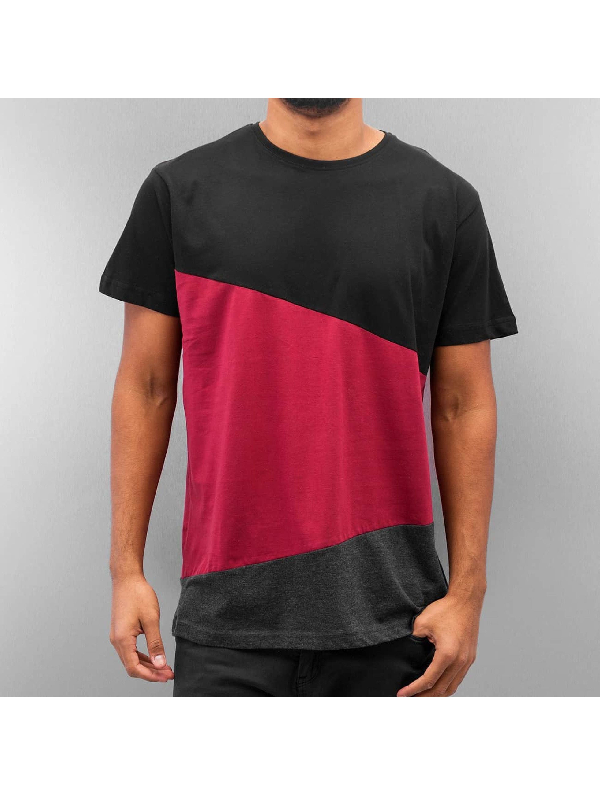 Urban Classics T-shirt Long Shaped Zig Zag nero