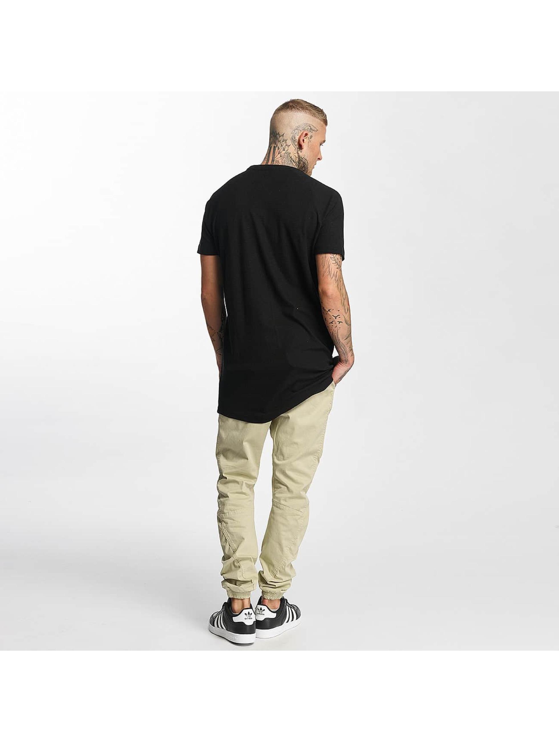 Urban Classics T-shirt Thermal Slub Raglan nero