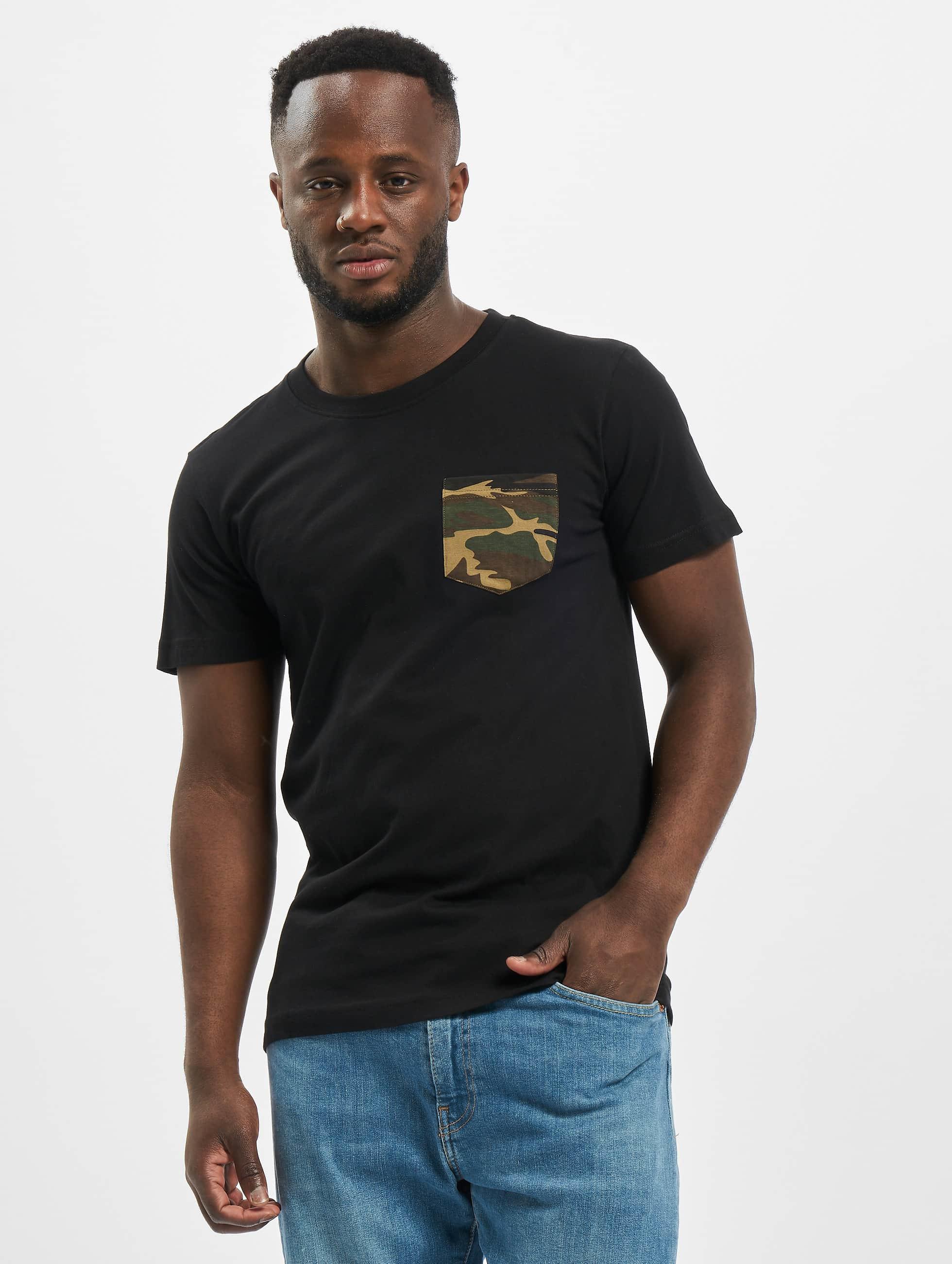 Urban Classics T-Shirt Camo Pocket noir