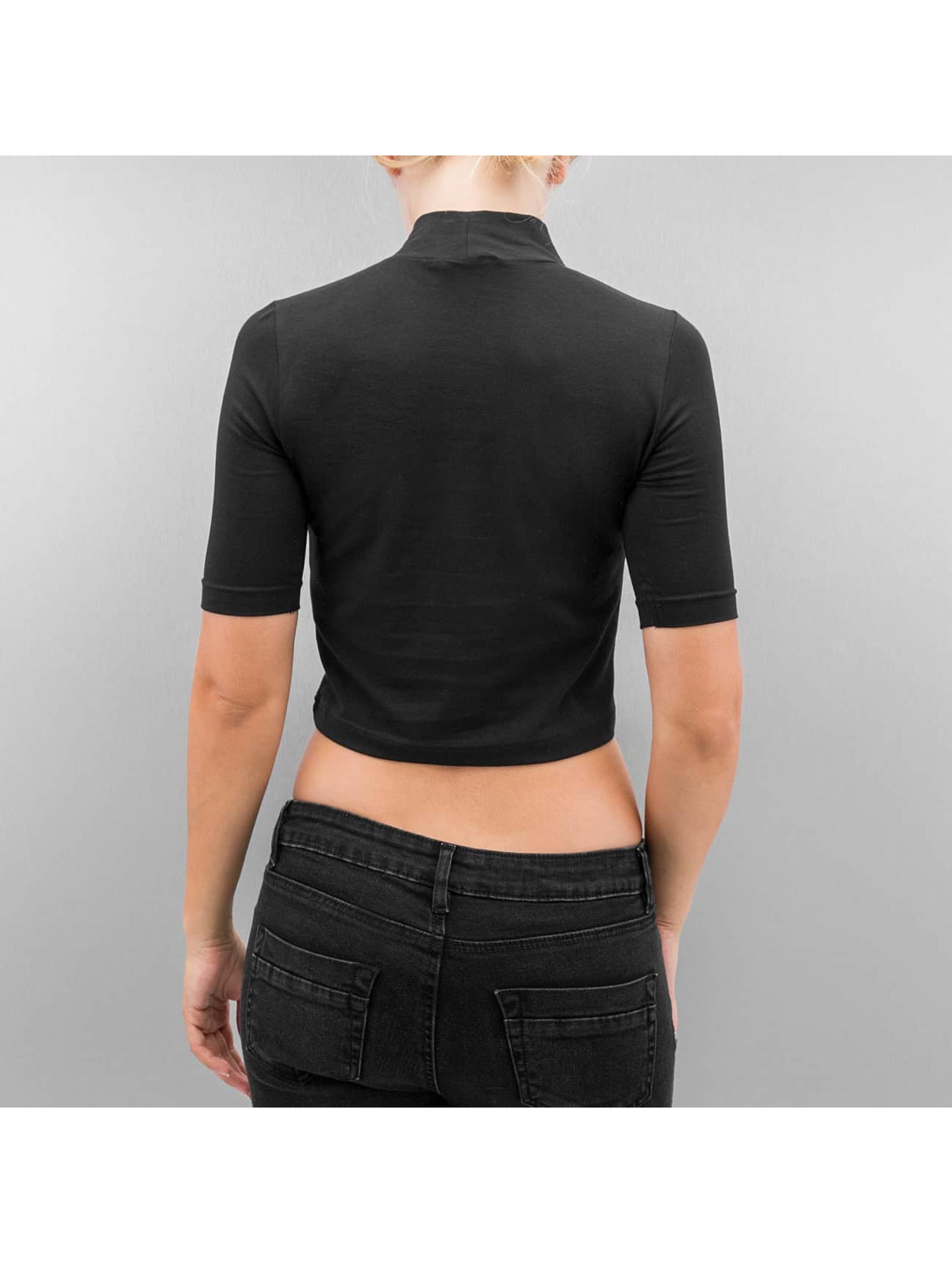 Urban Classics T-Shirt Cropped Turtleneck noir