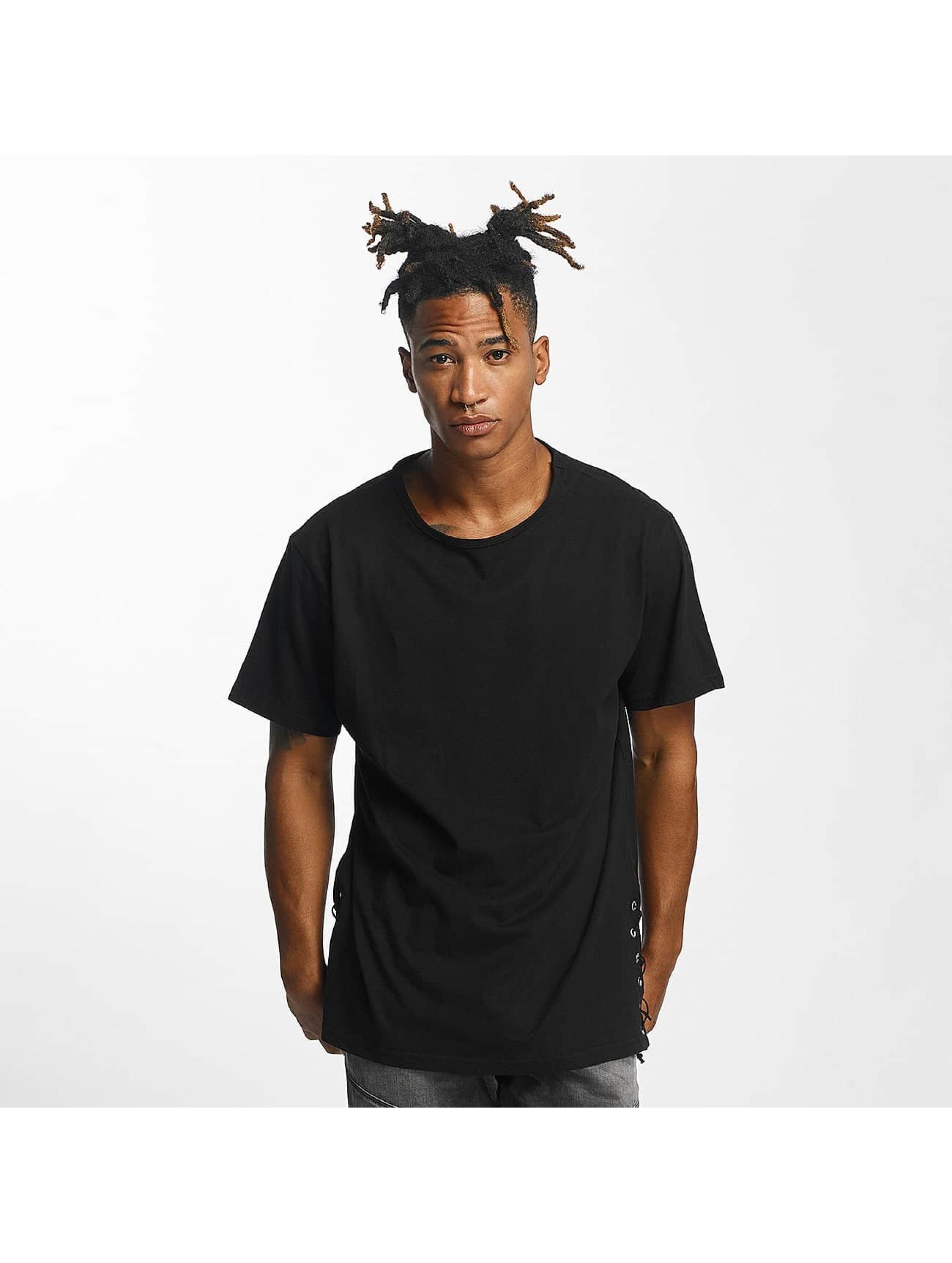 Urban Classics Lace Up Long noir T-Shirt homme