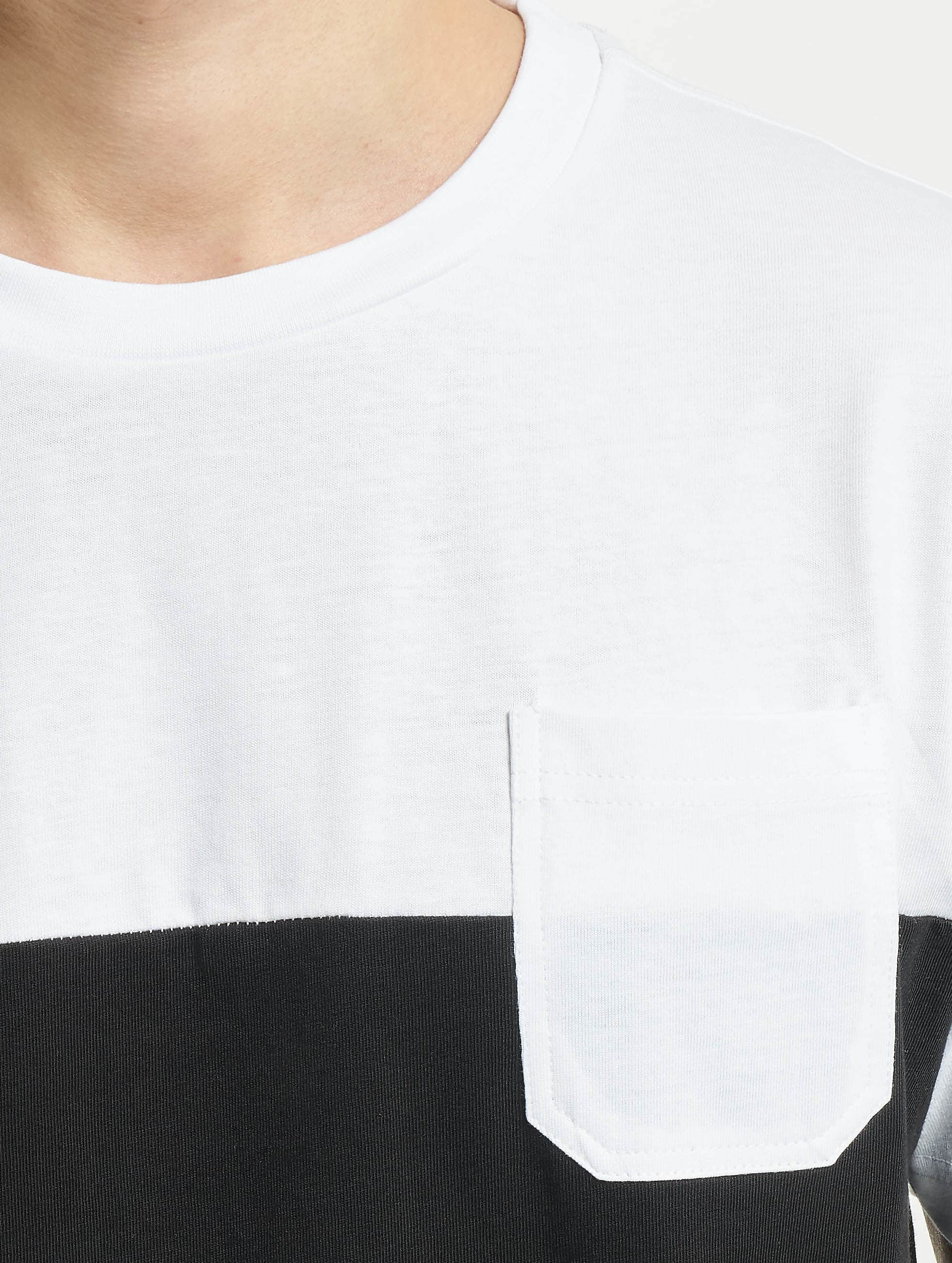 Urban Classics T-Shirt Color Block Summer Pocket noir