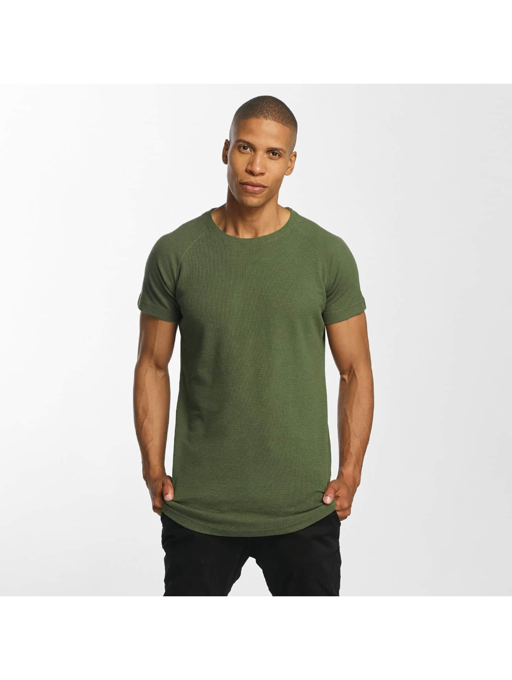 Urban Classics t-shirt Thermal Slub olijfgroen