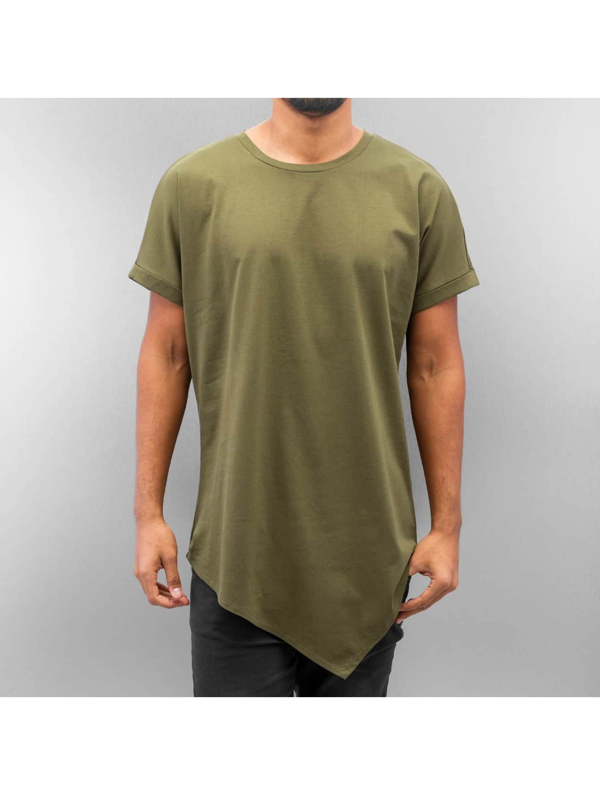 T-Shirt Asymetric Long in olive