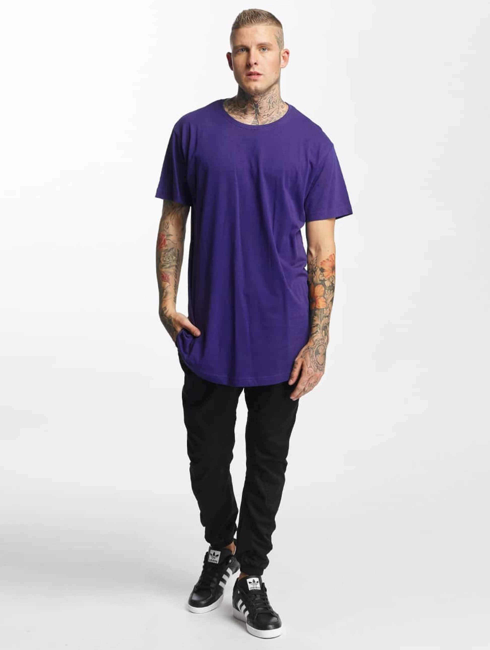 Urban Classics t-shirt Shaped Oversized Long paars