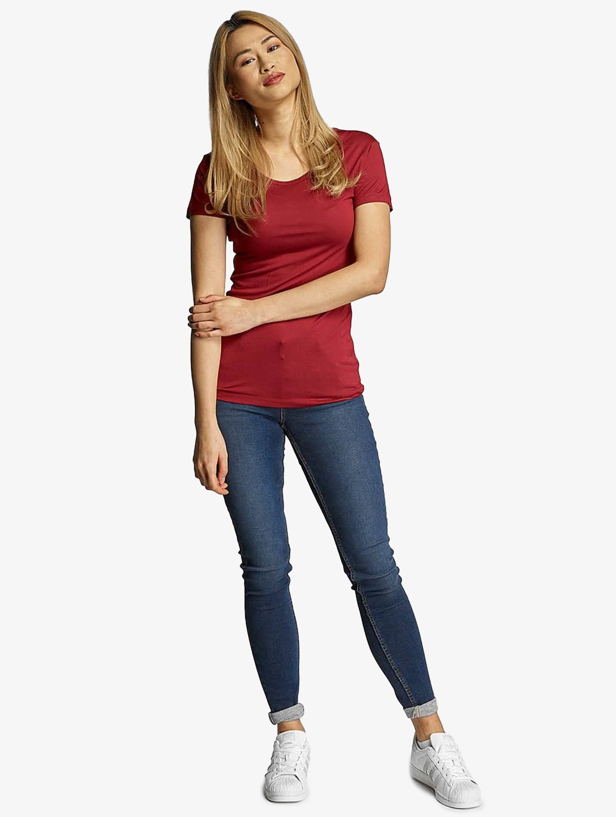 Urban Classics T-Shirt Ladies Basic Viscose red
