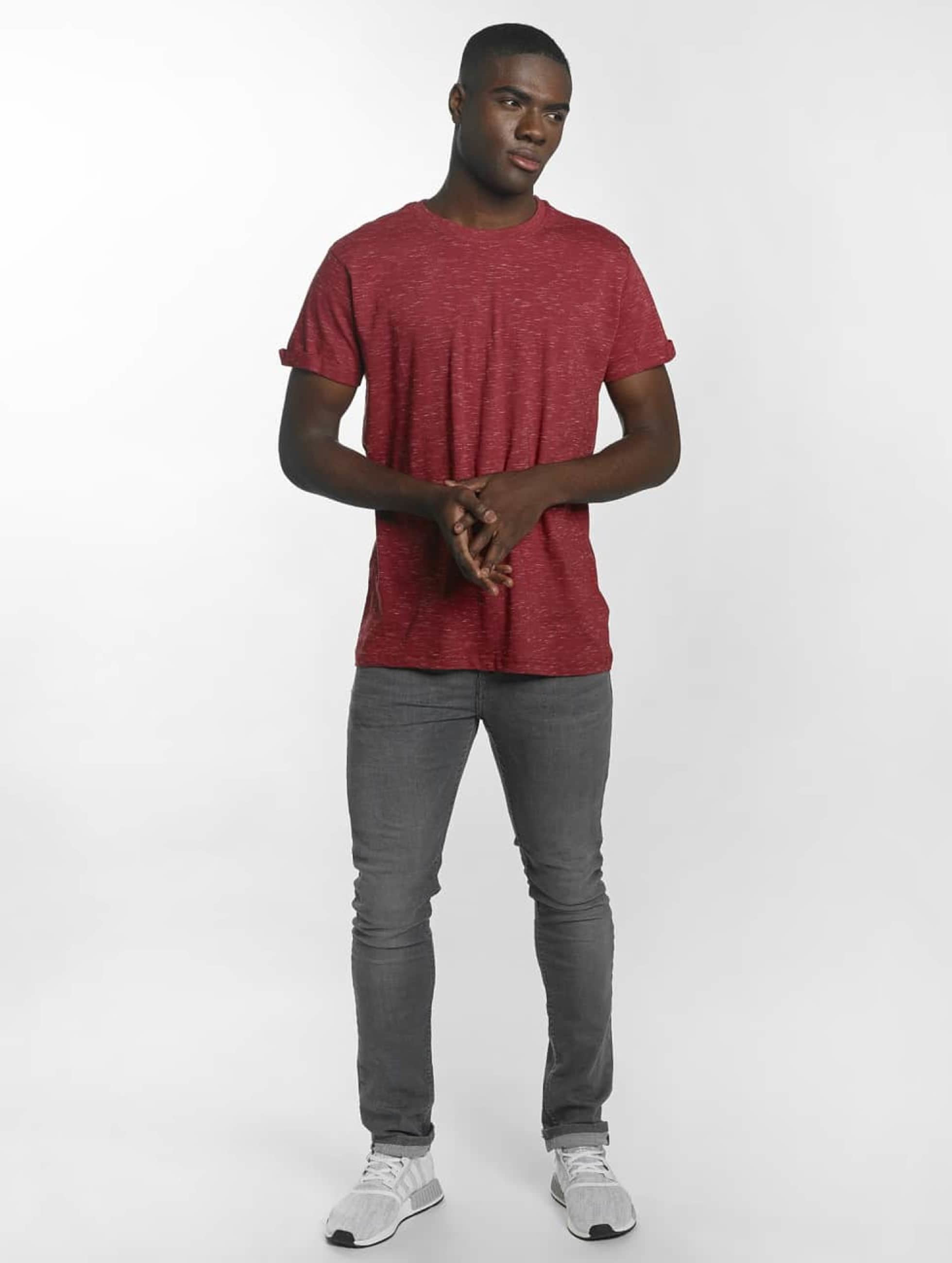 Urban Classics T-shirt Space Dye Turnup röd