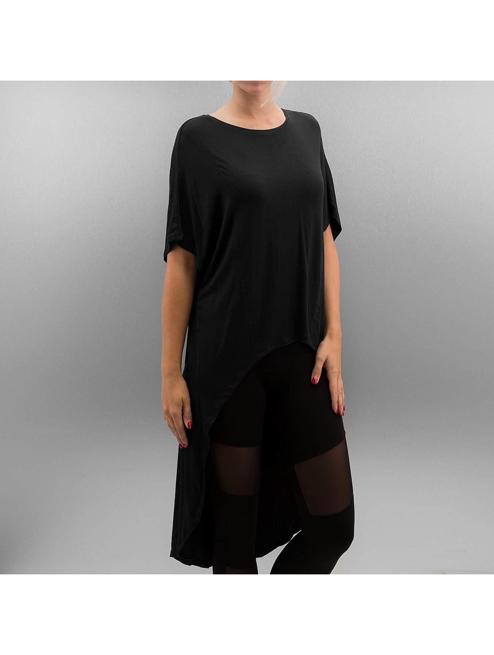 T-Shirt Ladies Viscose Oversized HiLo in schwarz
