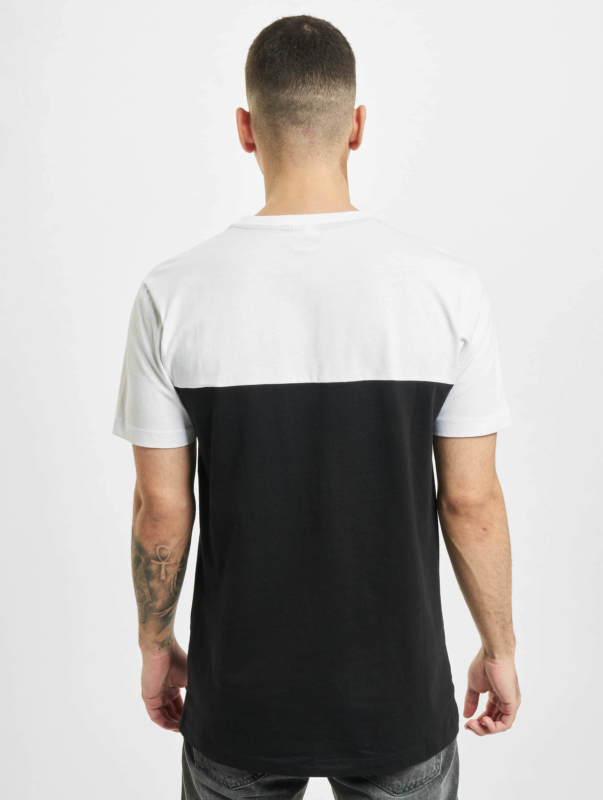 Urban Classics T-Shirt Color Block Summer Pocket schwarz