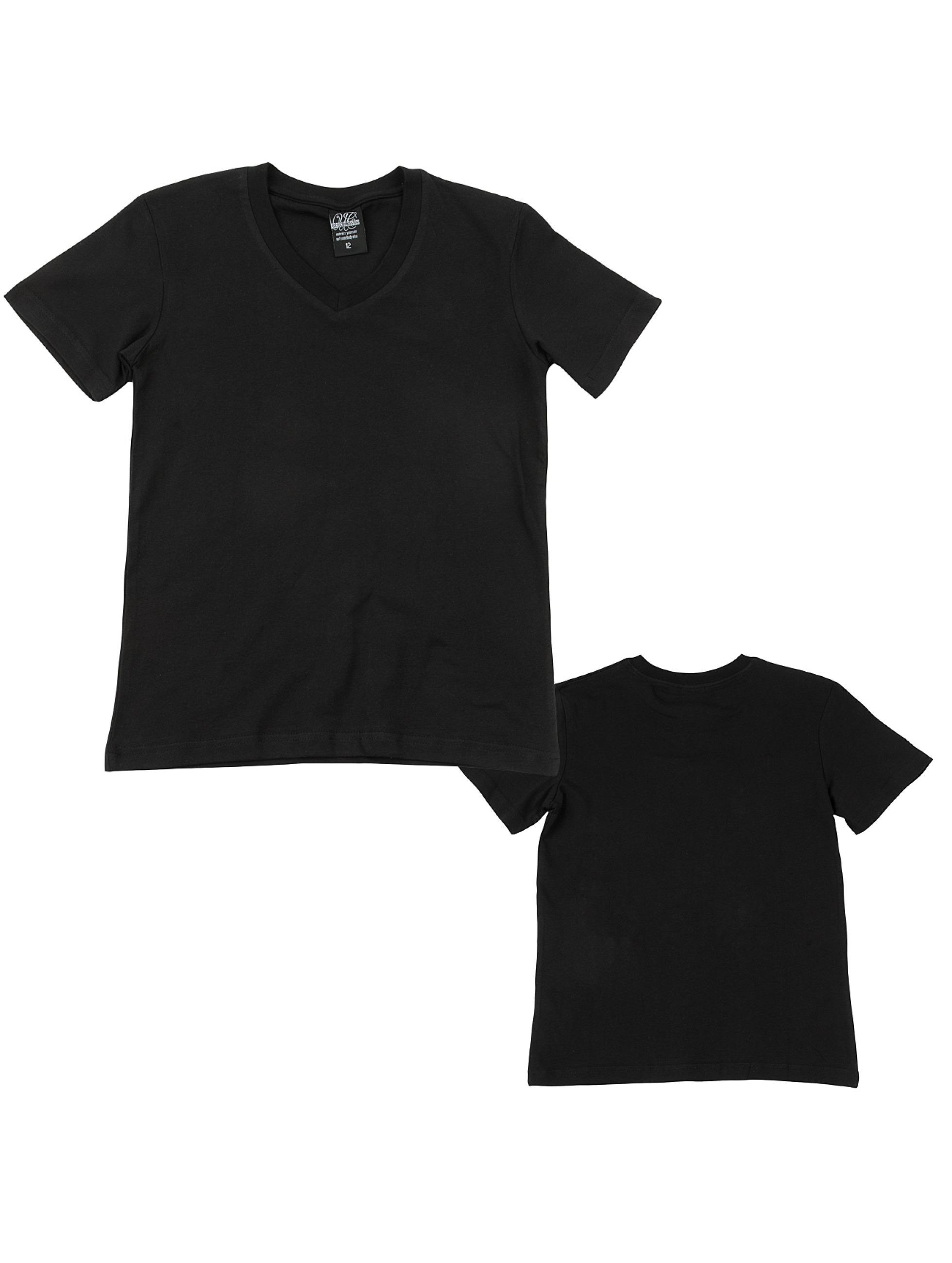 Urban Classics T-Shirt Kids Basic V-Neck schwarz