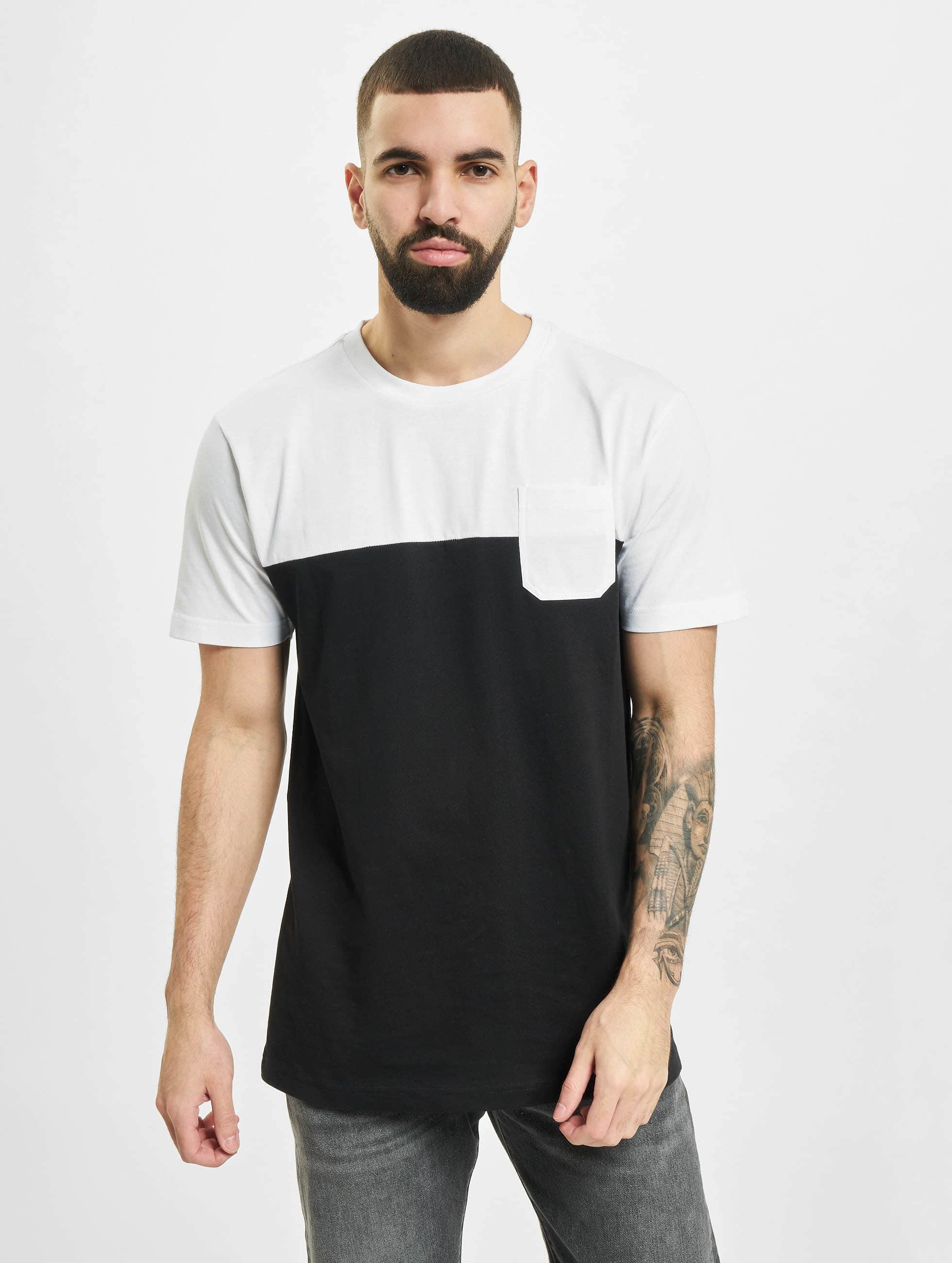 Urban Classics T-shirt Color Block Summer Pocket svart
