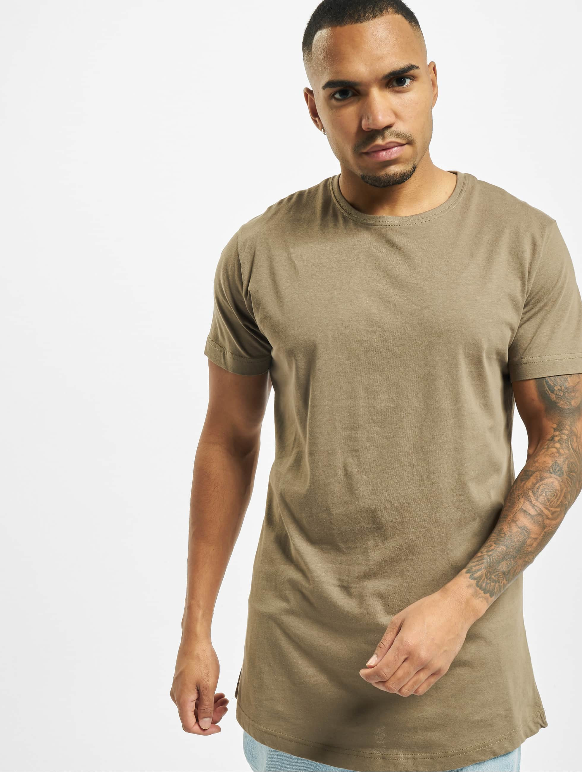 Urban Classics T-shirt Shaped Oversized Long verde