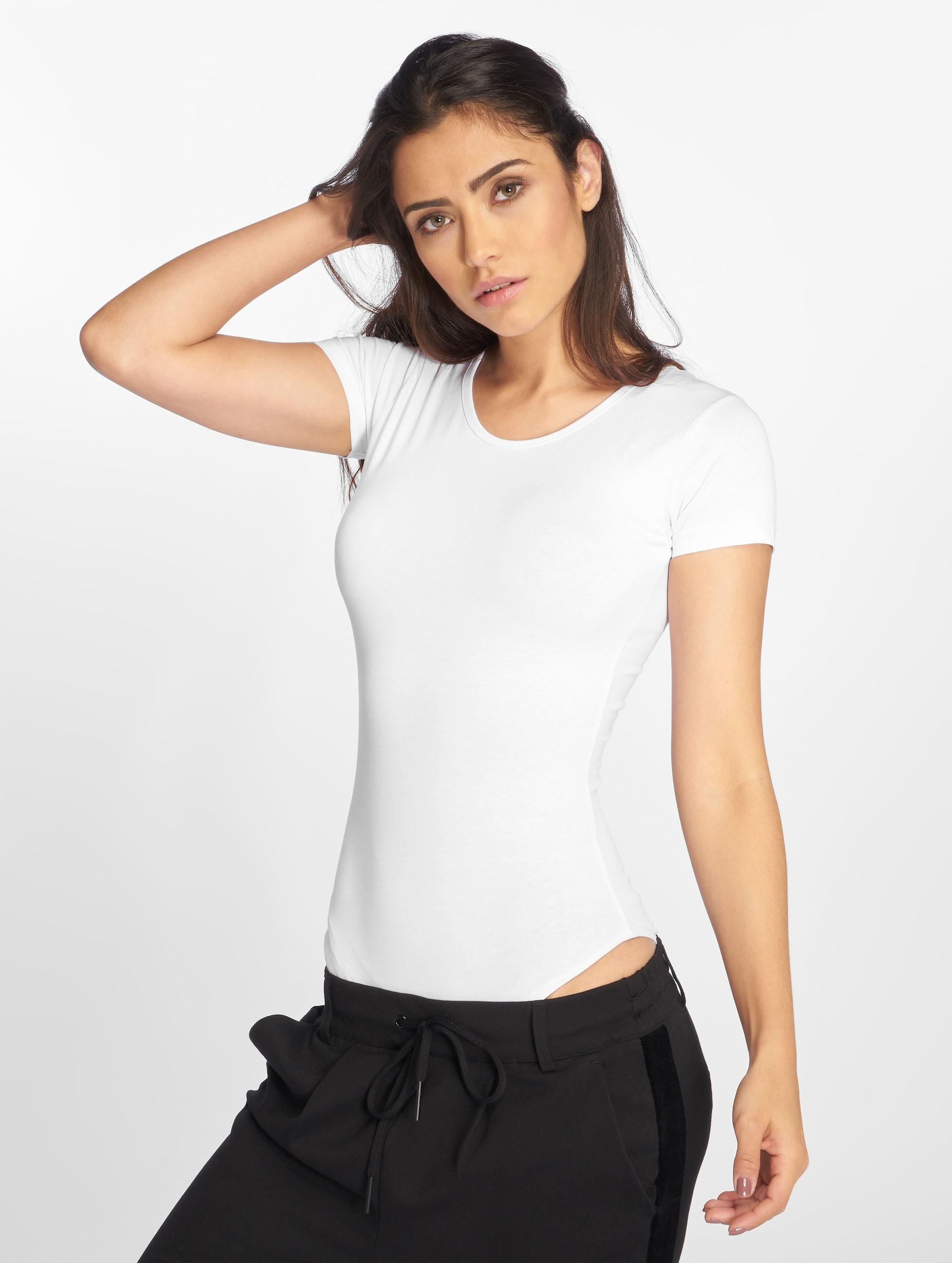 Urban Classics T-Shirt Ladies Lace Up weiß