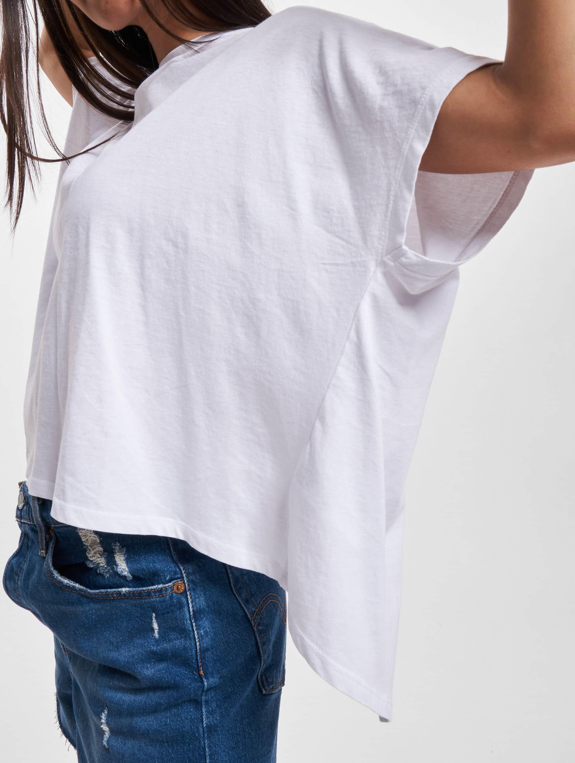 Urban Classics T-Shirt Overlap Turtleneck white