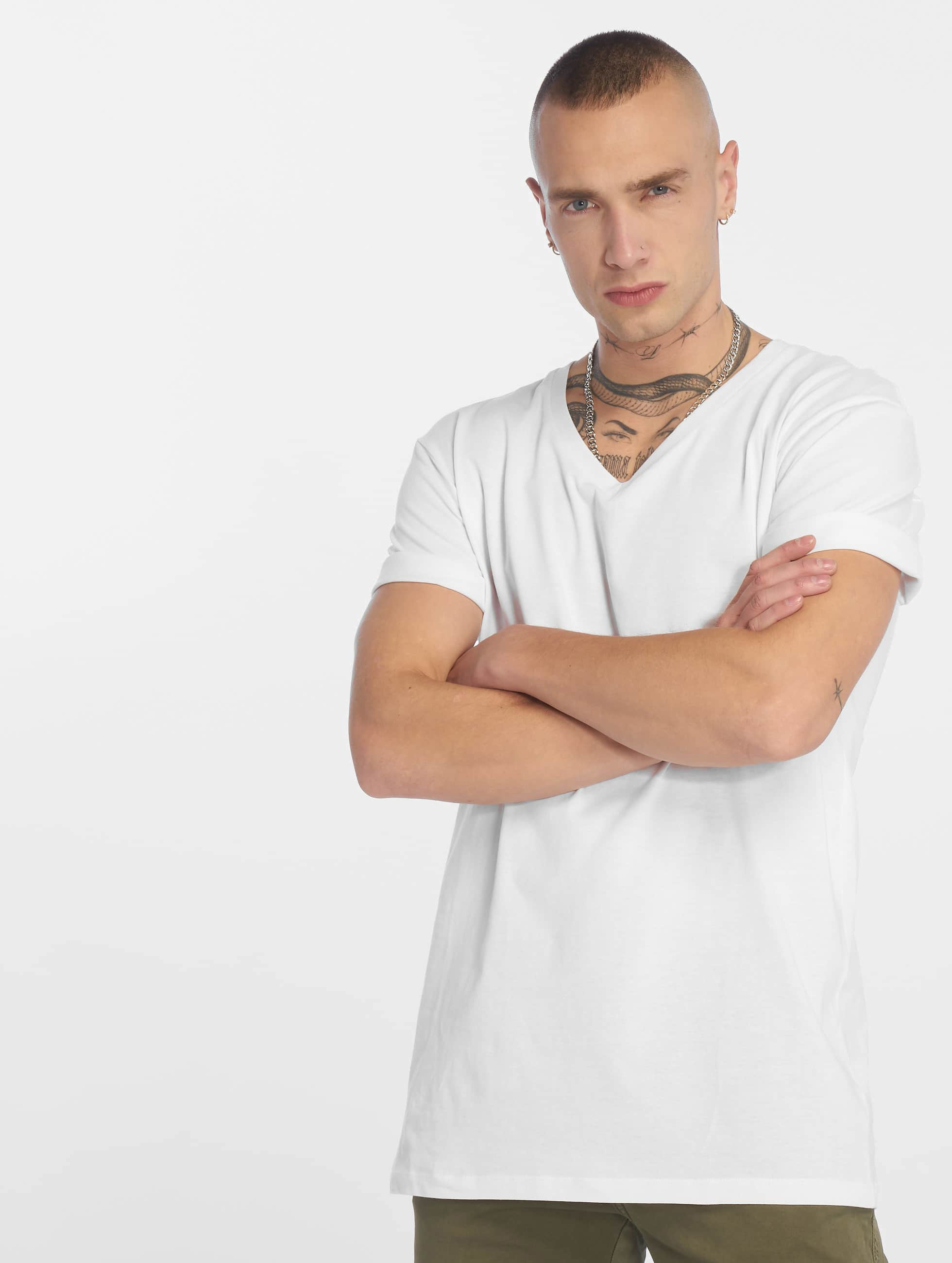 Urban Classics T-Shirt Basic V-Neck white