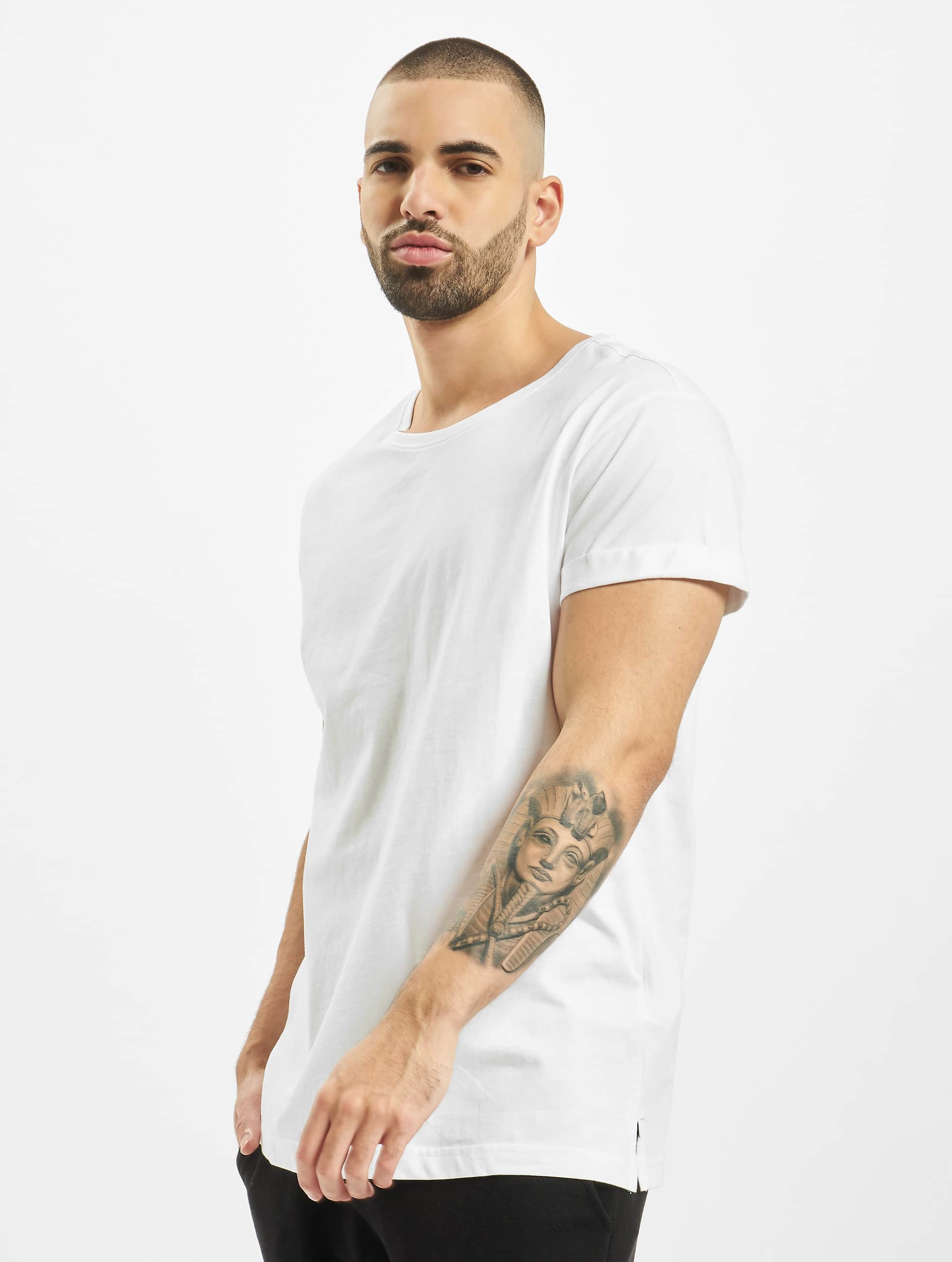 Urban Classics T-Shirt Turnup white