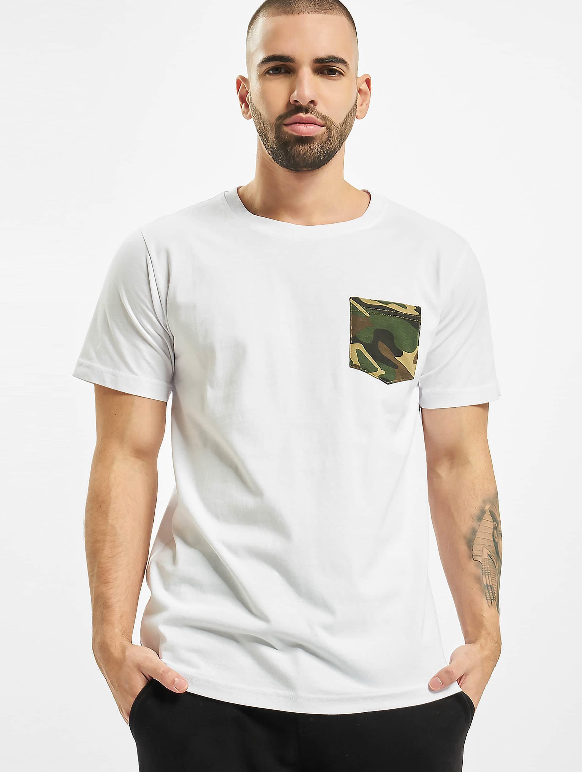 Urban Classics t-shirt Camo Pocket wit