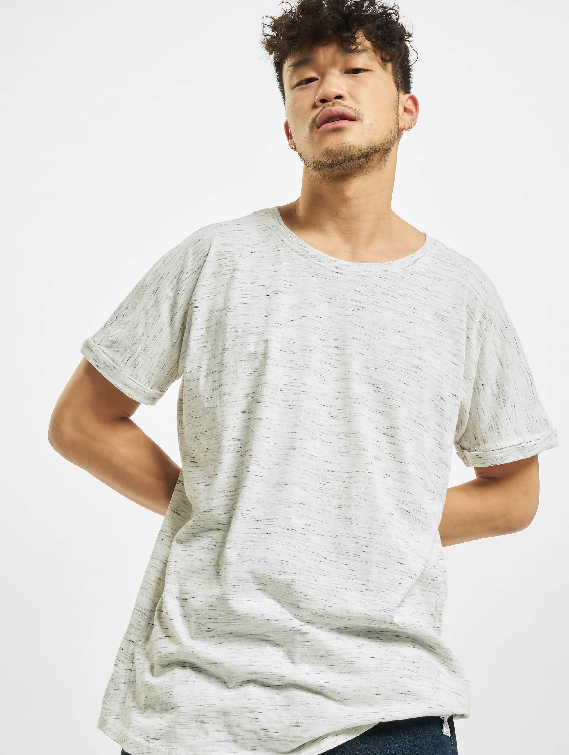 Urban Classics heren t-shirt Long Space Dye Turn Up - wit