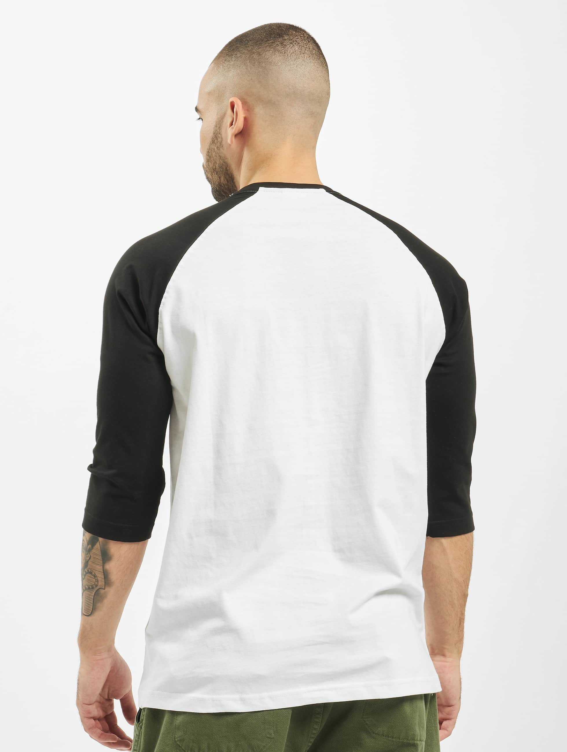 Urban Classics t-shirt Contrast 3/4 Sleeve Raglan wit