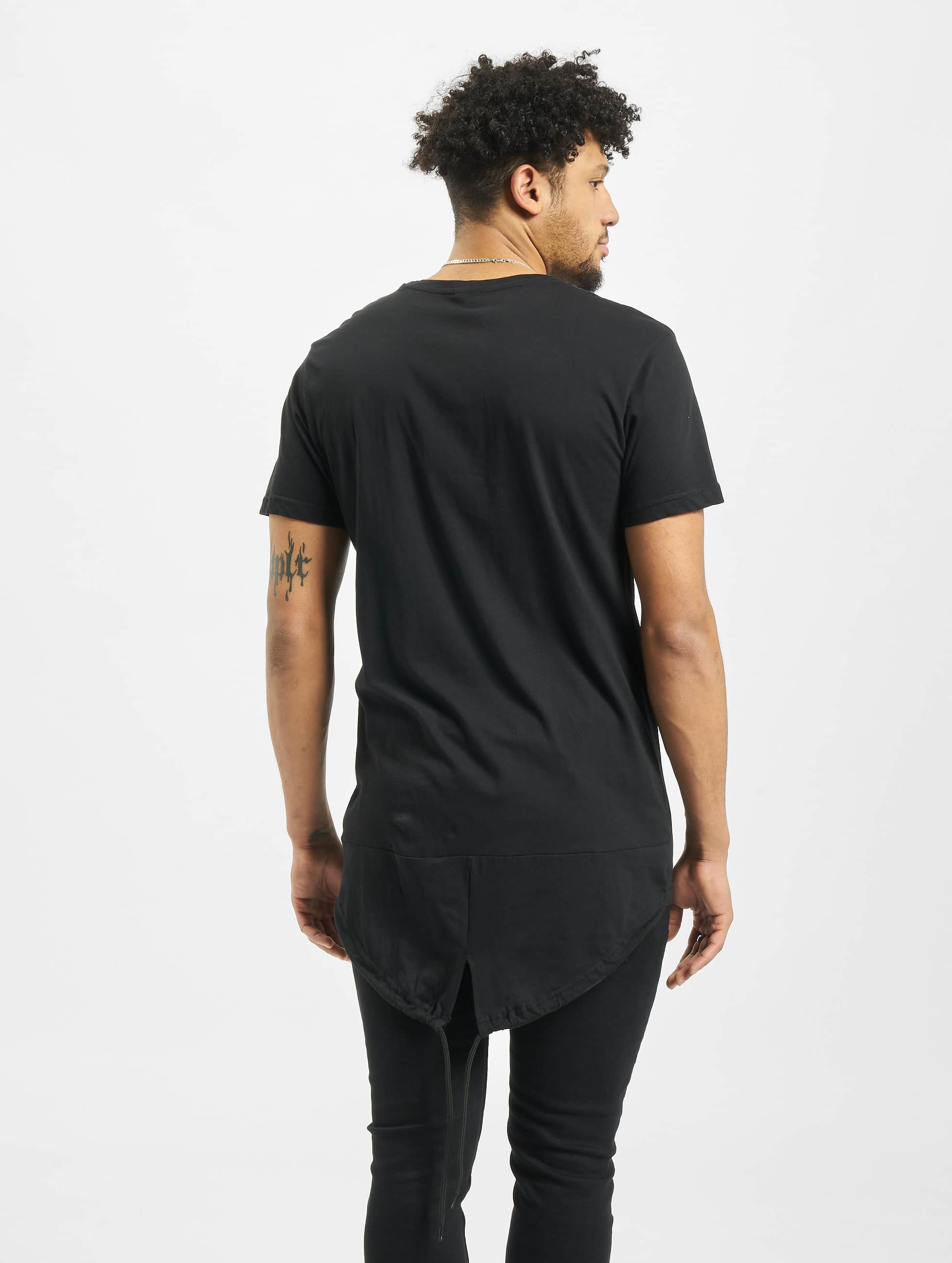 Urban Classics t-shirt Long Tail zwart