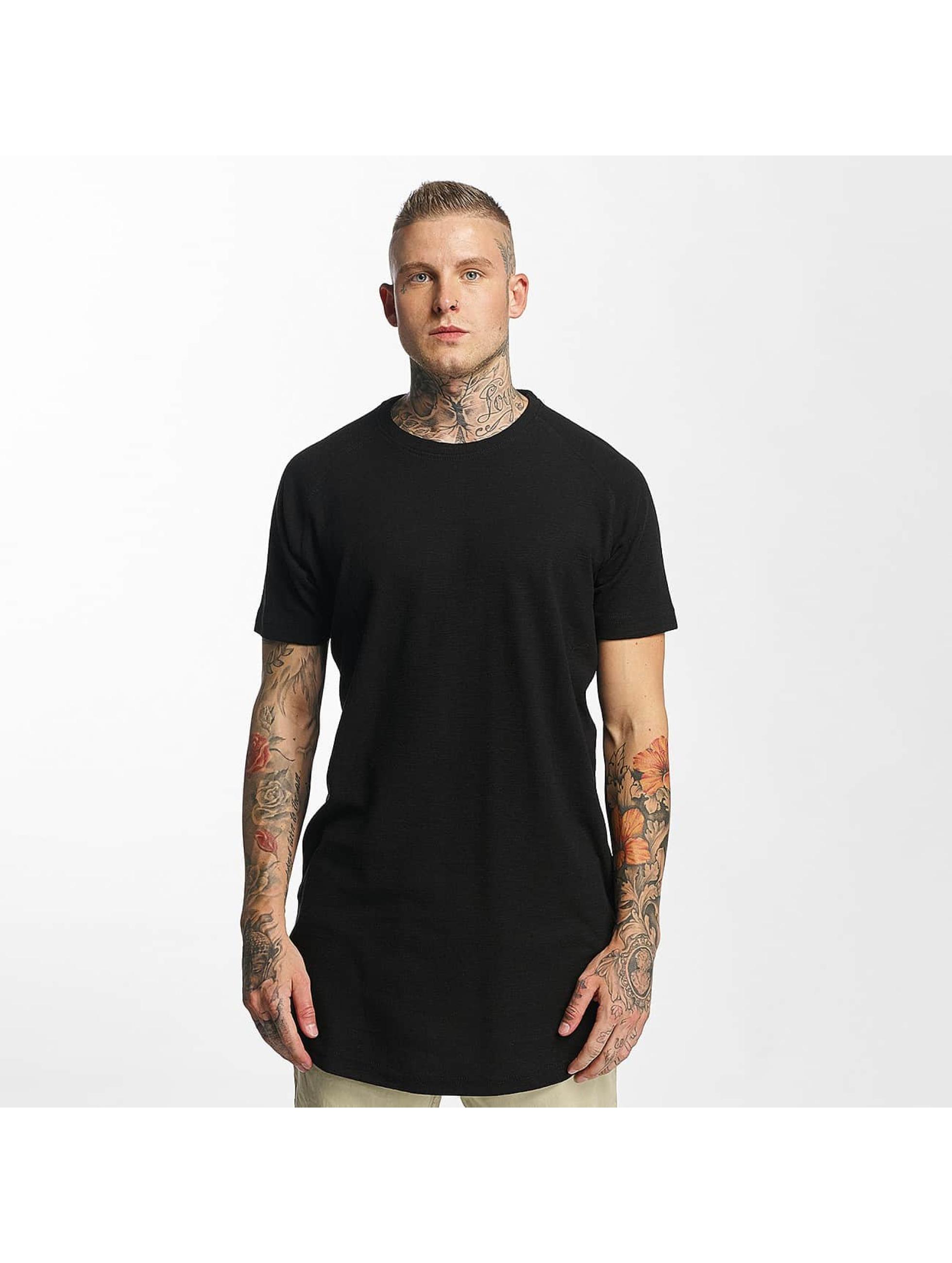 Urban Classics t-shirt Thermal Slub Raglan zwart