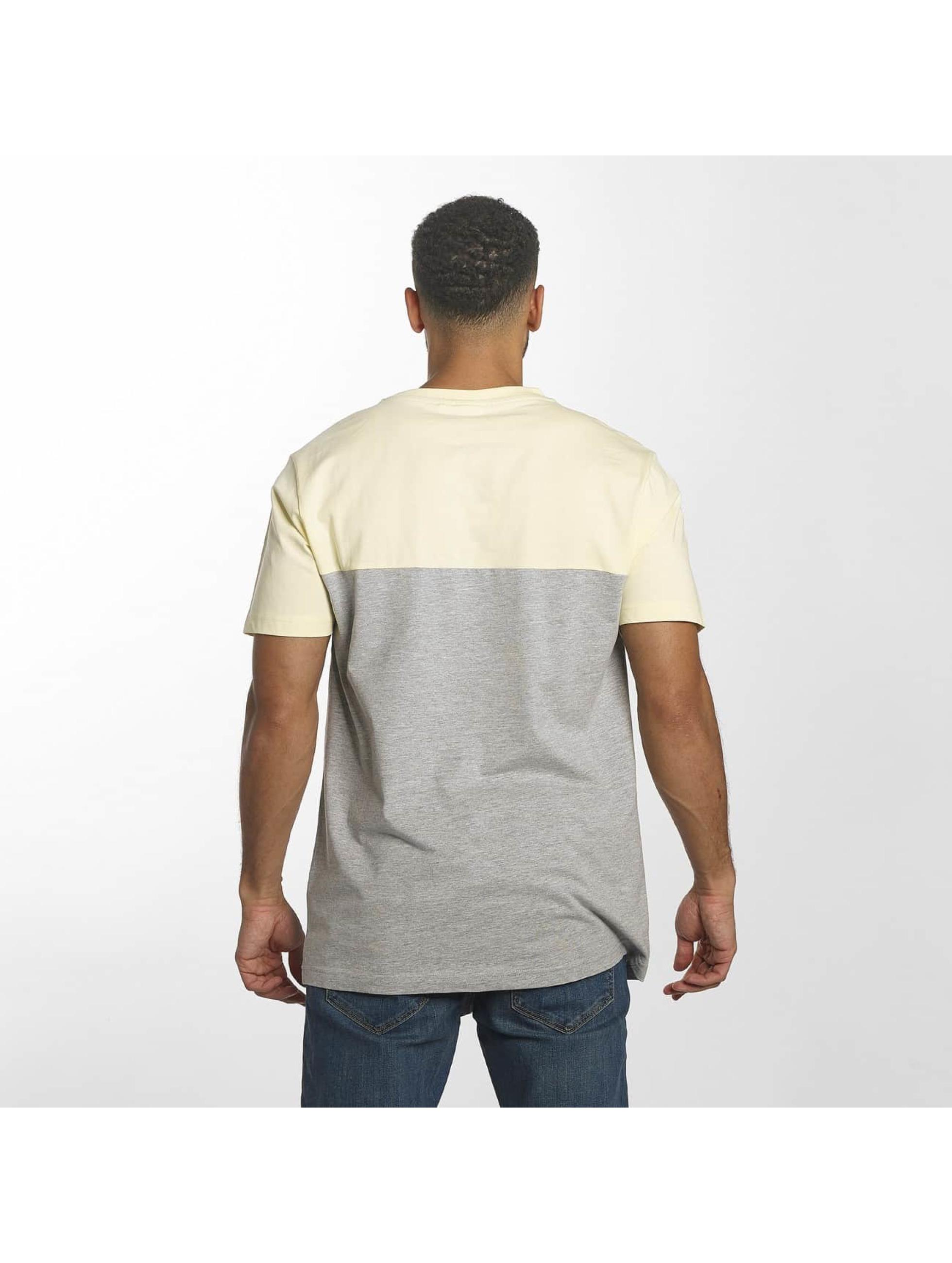 Urban Classics T-shirts Color Block Summer Pocket grå