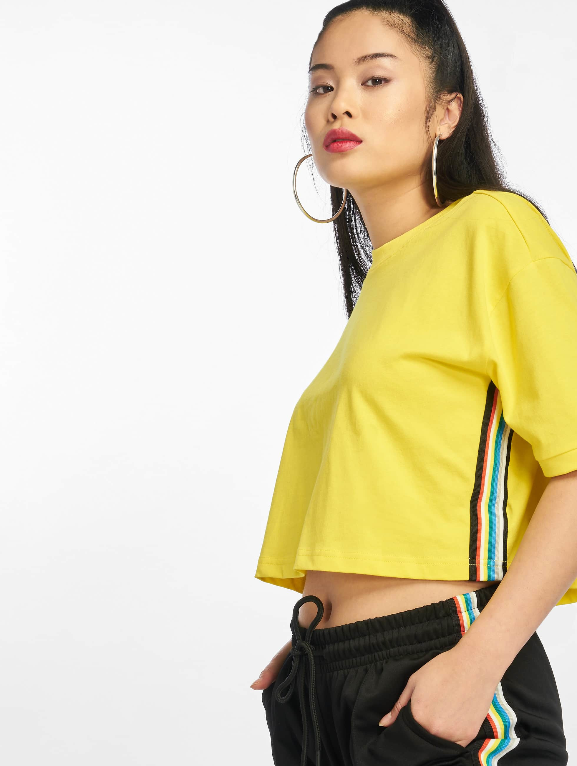 Urban Classics Multicolor Side Taped T Shirt Brightyellow