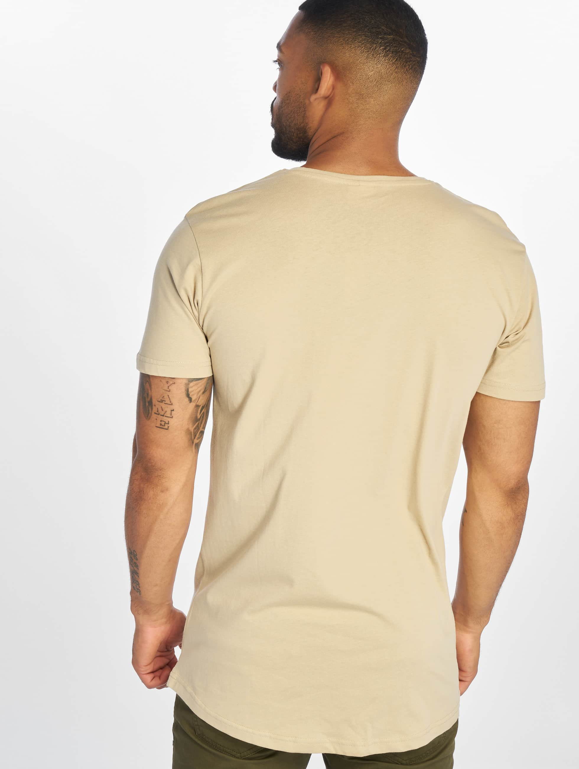 Urban Classics T-Shirty Shaped Long bezowy