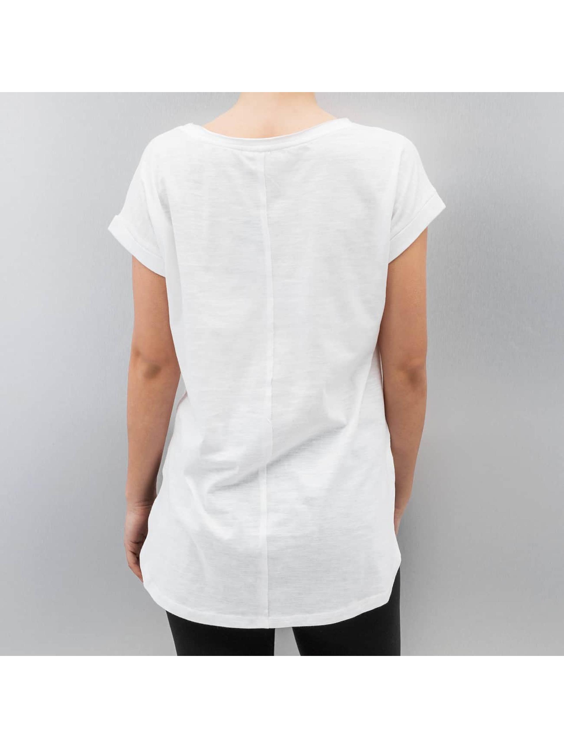 Urban Classics T-Shirty Long Back Shaped Slub bialy